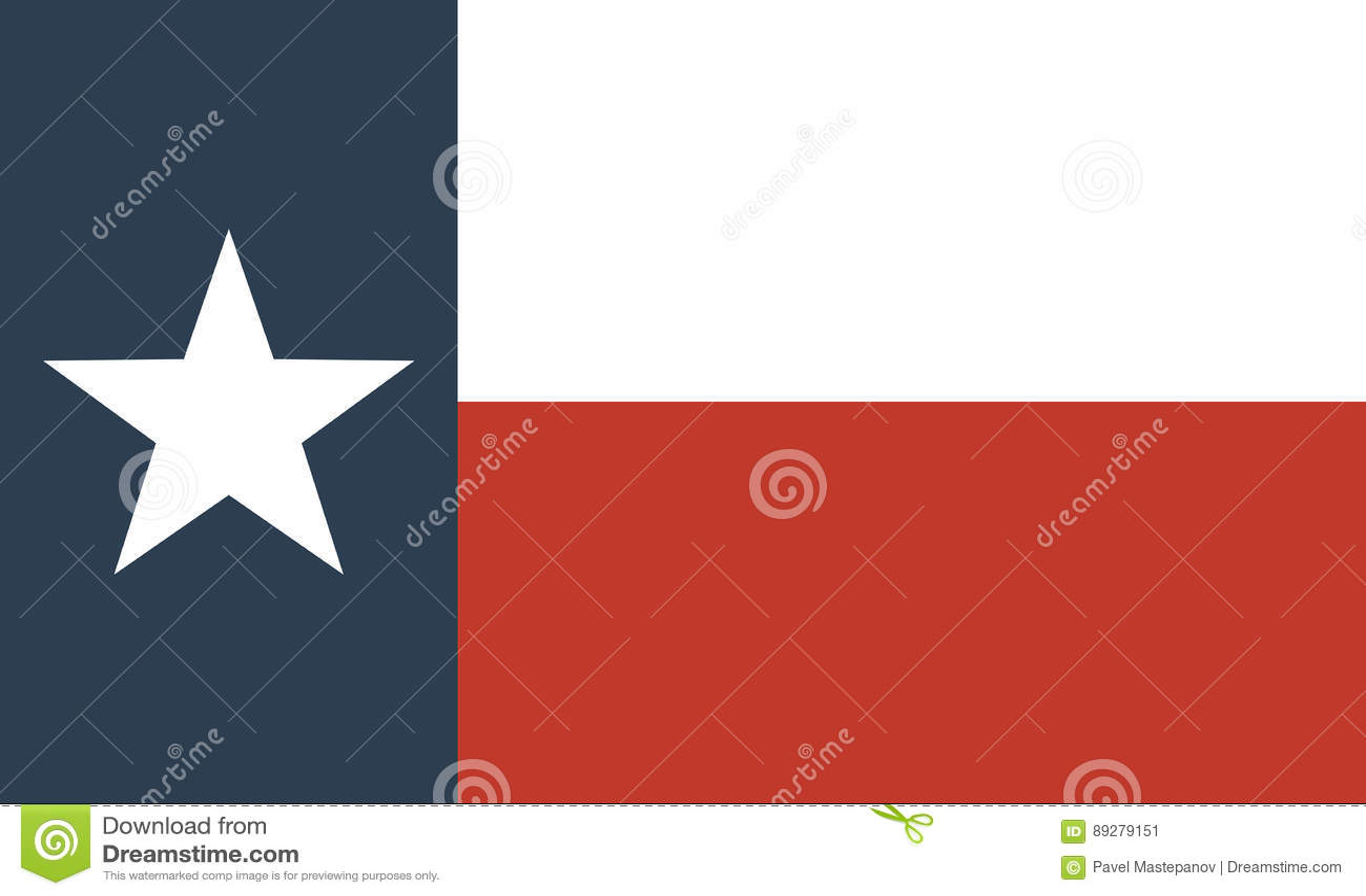 Bandera Del Estado De Los E.E.U.U. De Tejas Ilustración del Vector ...