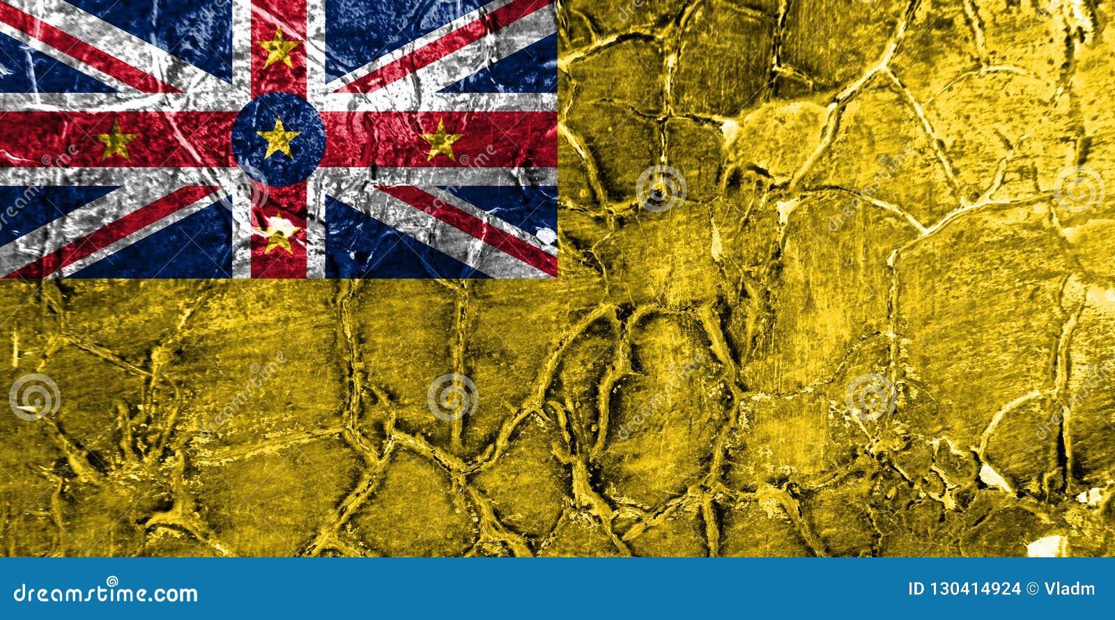 Bandera del grunge de Niue, nueva bandera dependiente del territorio de Zaeland