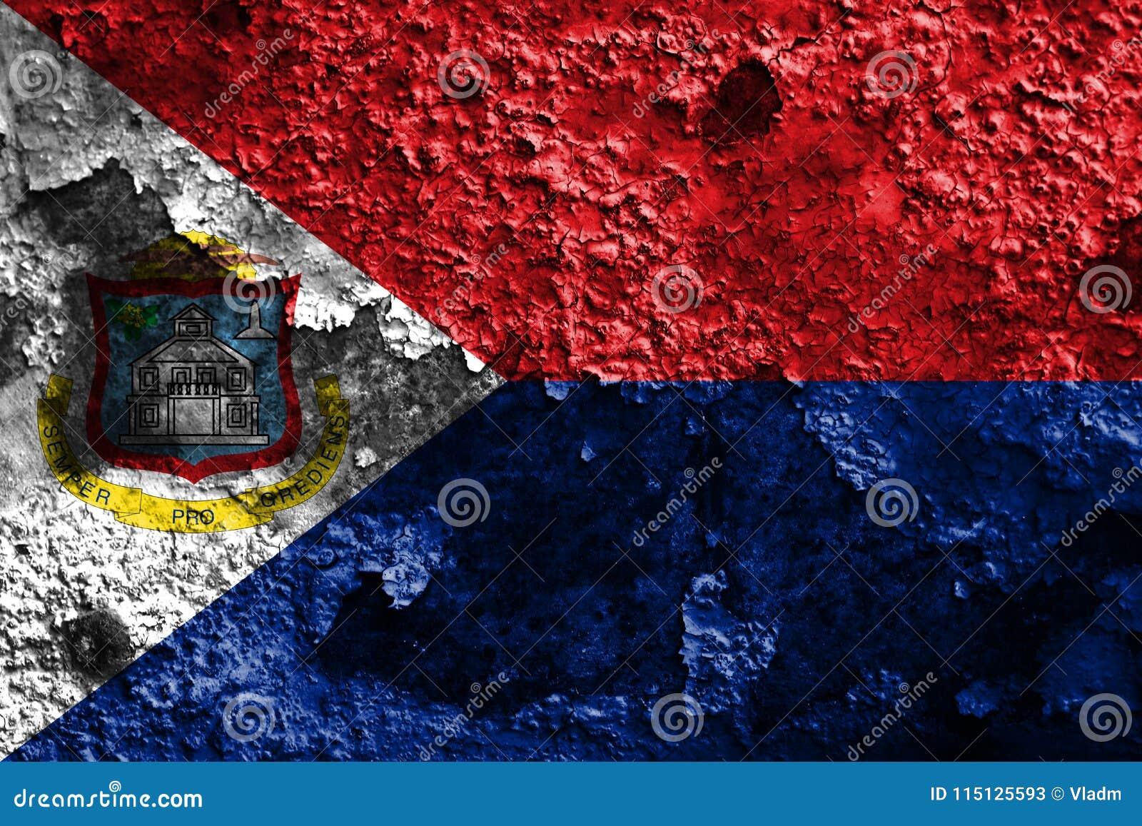 Bandera del grunge de Sint Maarten, bandera dependiente holandesa del territorio
