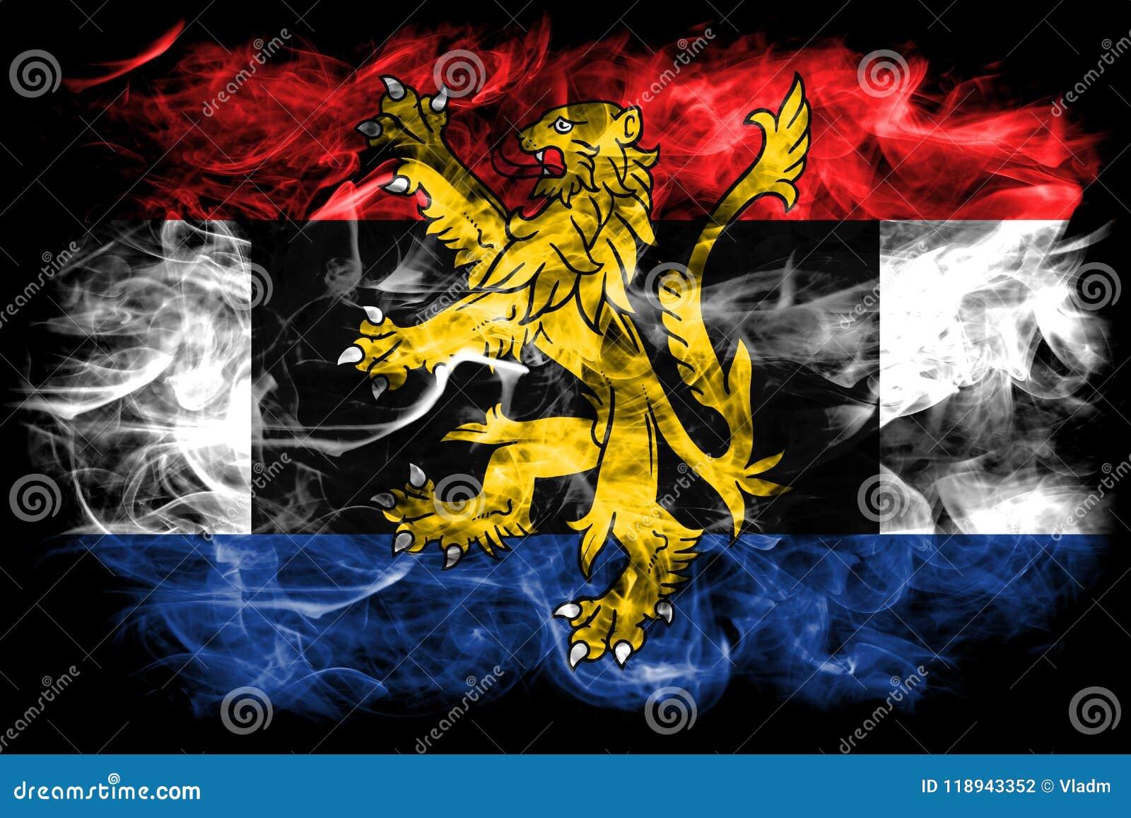 Bandera del humo de Benelux, unión politico-económica de Bélgica, inferior