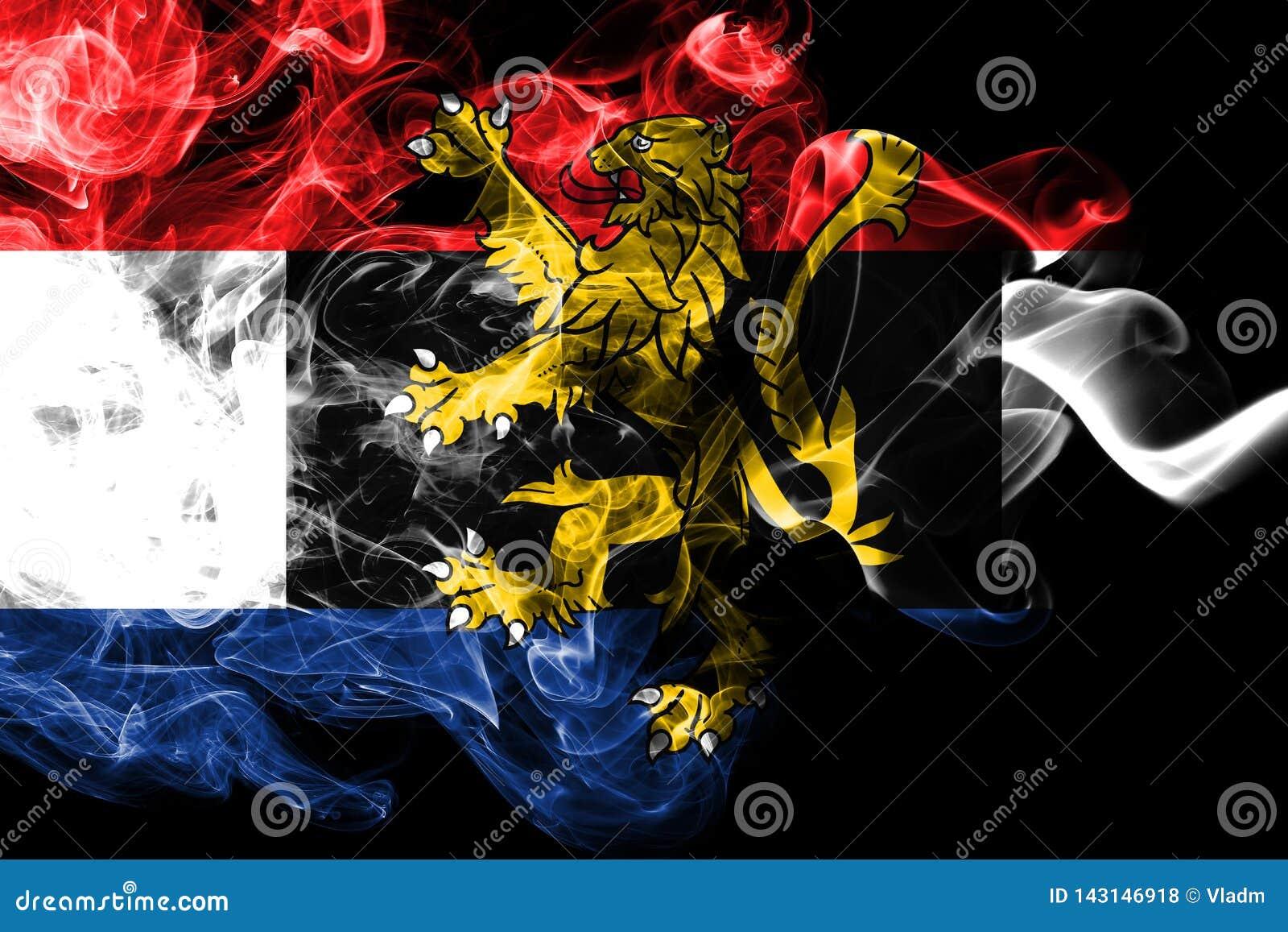 Bandera del humo de Benelux, unión politico-económica de Bélgica, Países Bajos, Luxemburgo
