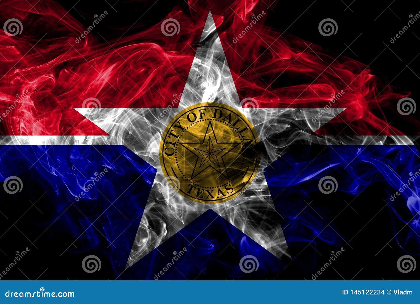Bandera del humo de la ciudad de Dallas, estado de Illinois, los Estados Unidos de Am?rica