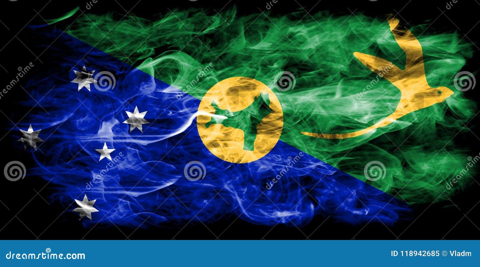 Bandera del humo de la Isla de Navidad, bandera dependiente del territorio de Australia