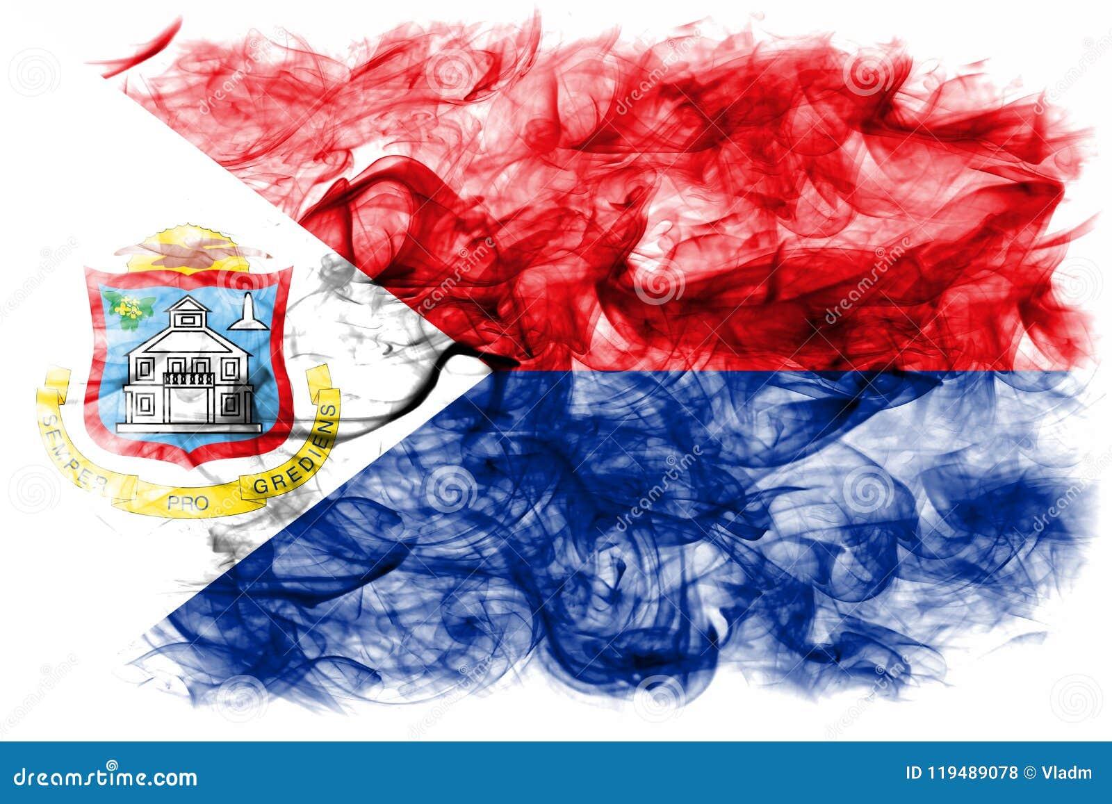 Bandera del humo de Sint Maarten, bandera dependiente holandesa del territorio
