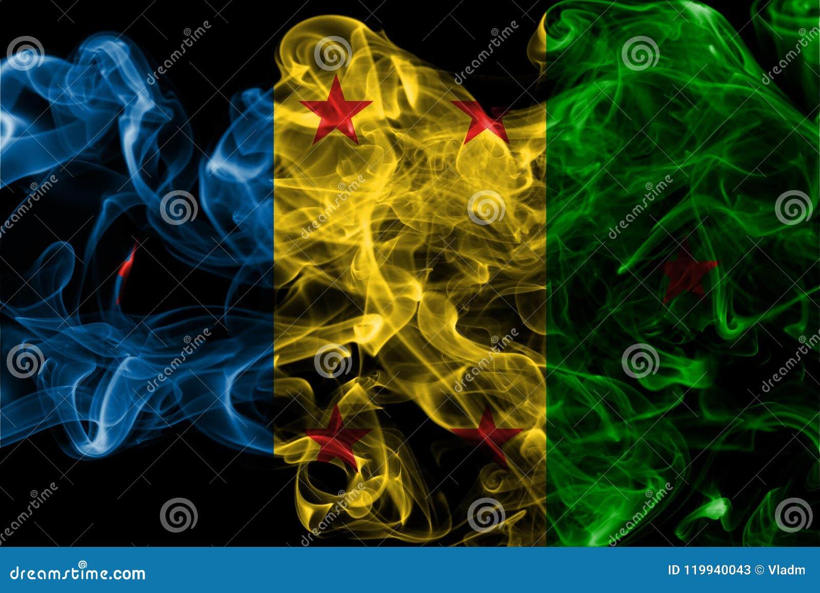 Bandera del humo del reino de Ogoni, bandera dependiente del territorio
