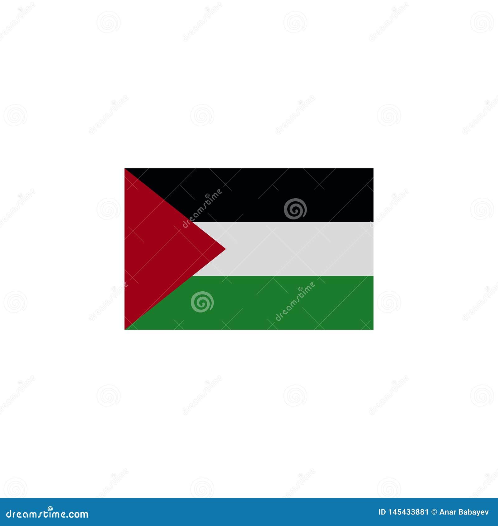 Bandera del icono coloreado de la Franja de Gaza  Elementos del icono del ejemplo de las banderas Las muestras y los s?mbolos se