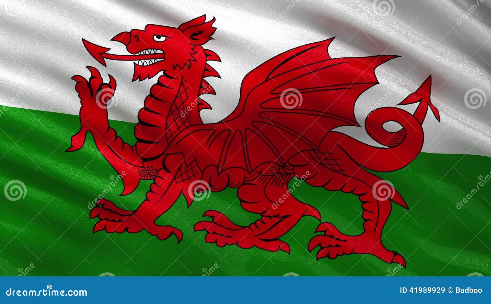 Bandera Del Lazo Inconsútil De País De Gales Almacen De Video ...