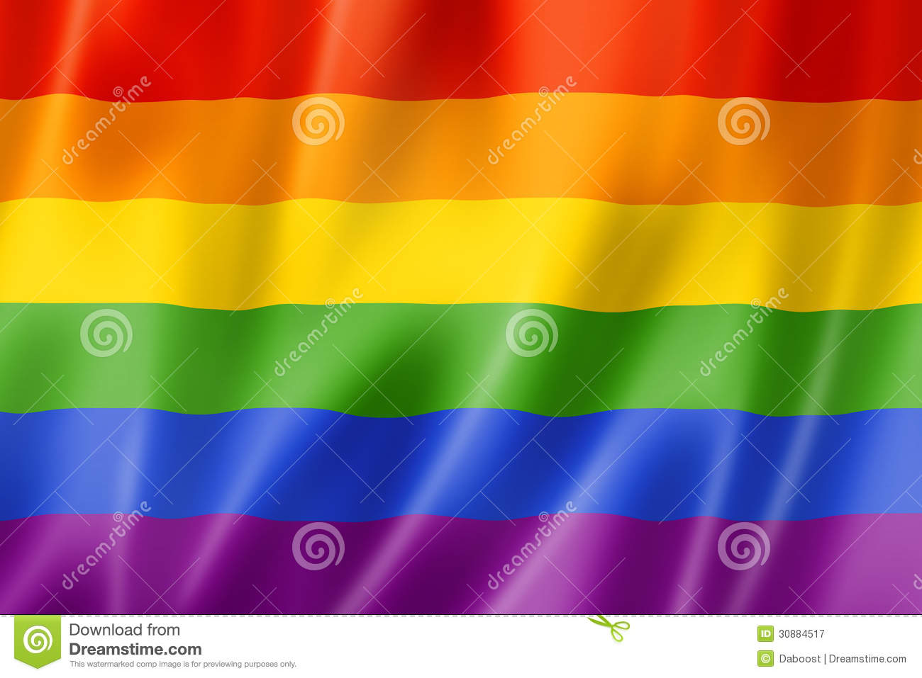 bandera gay en arcoiris