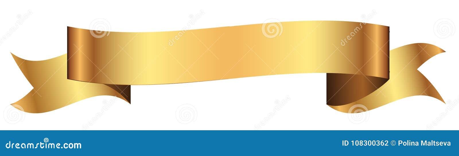 Bandera del oro para el diseño en vector