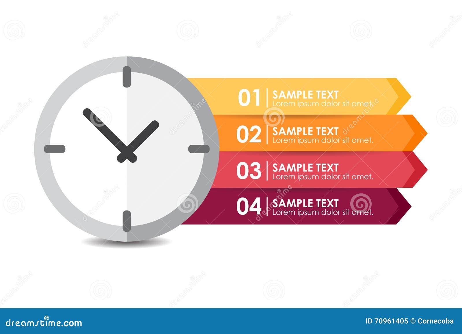 Reloj Vector Bandera Del Infographic Ilustración pSqUzMV
