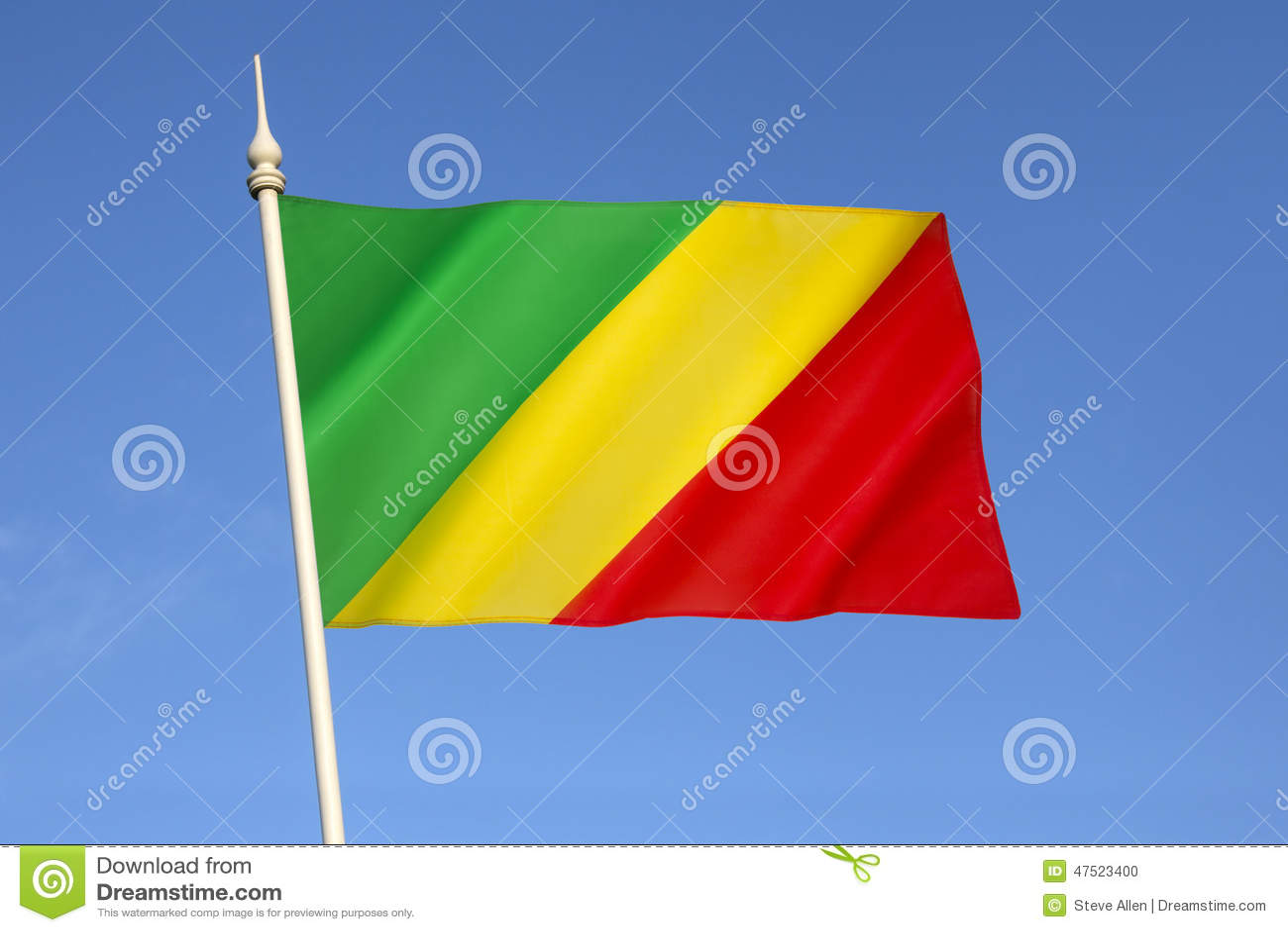 Bandera Del República Del Congo Foto De Archivo Imagen De Naturalice Recorrido 47523400