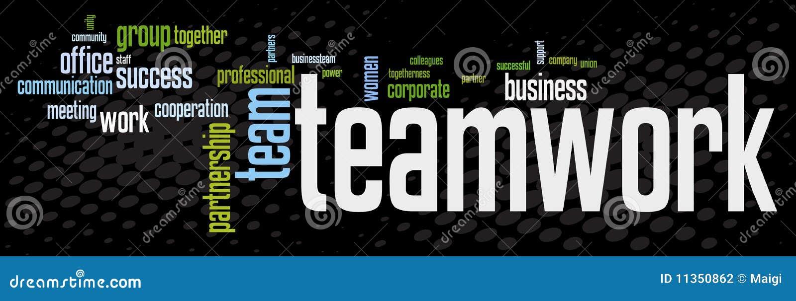 Bandera del trabajo en equipo del asunto