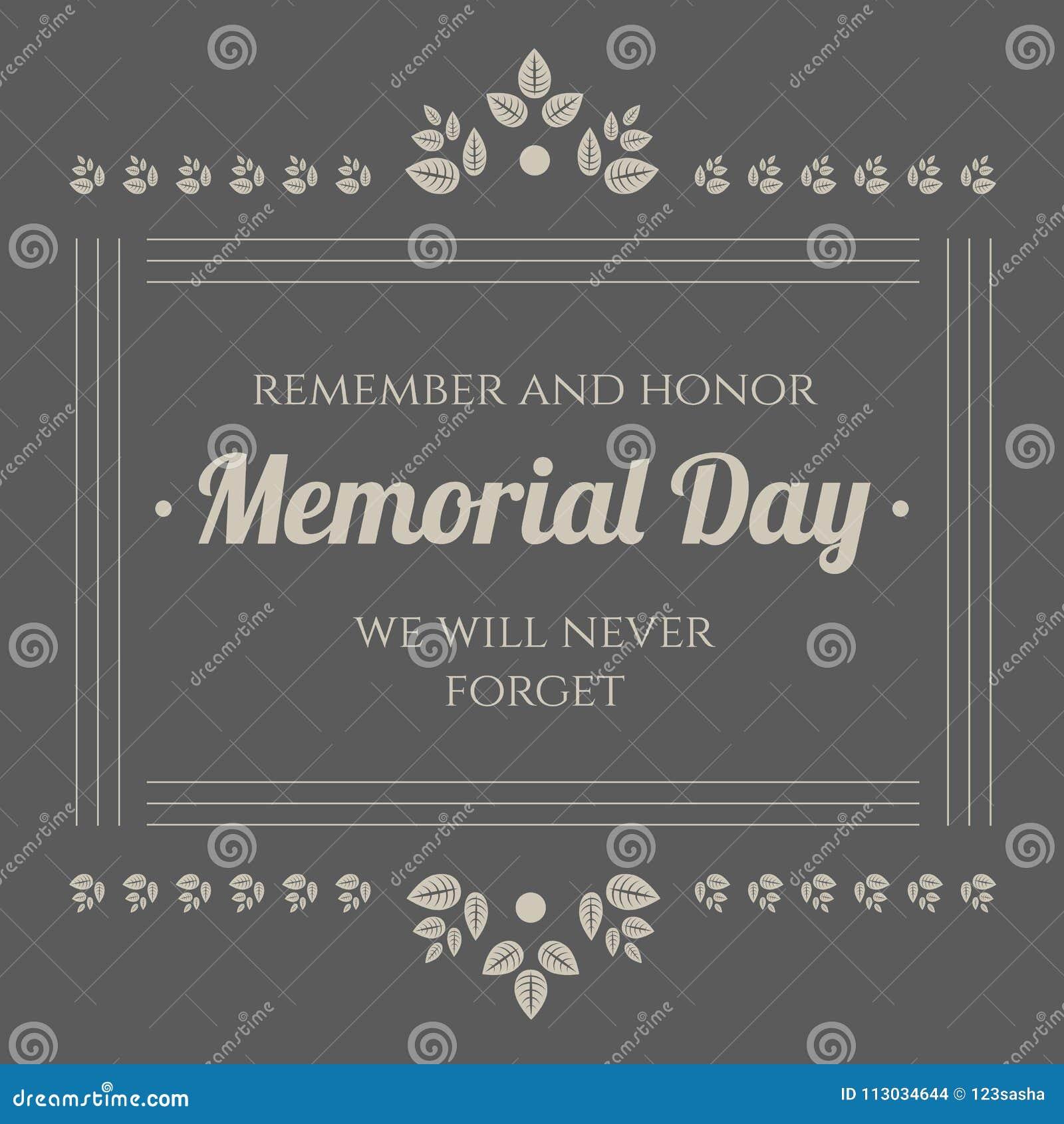 Bandera del vintage del Memorial Day