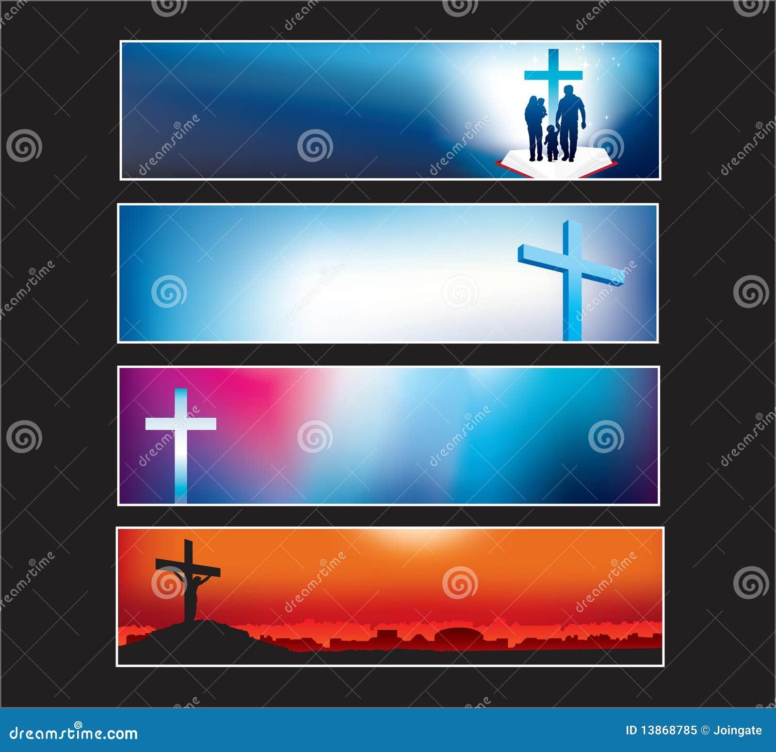 Bandera del Web site fijada para el cristiano moderno
