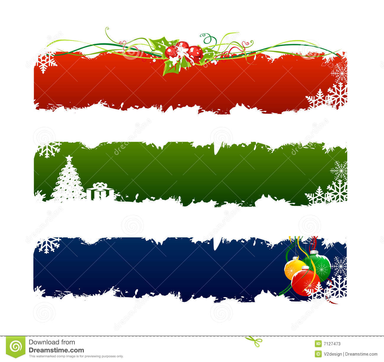 Bandera determinada de la Navidad 3