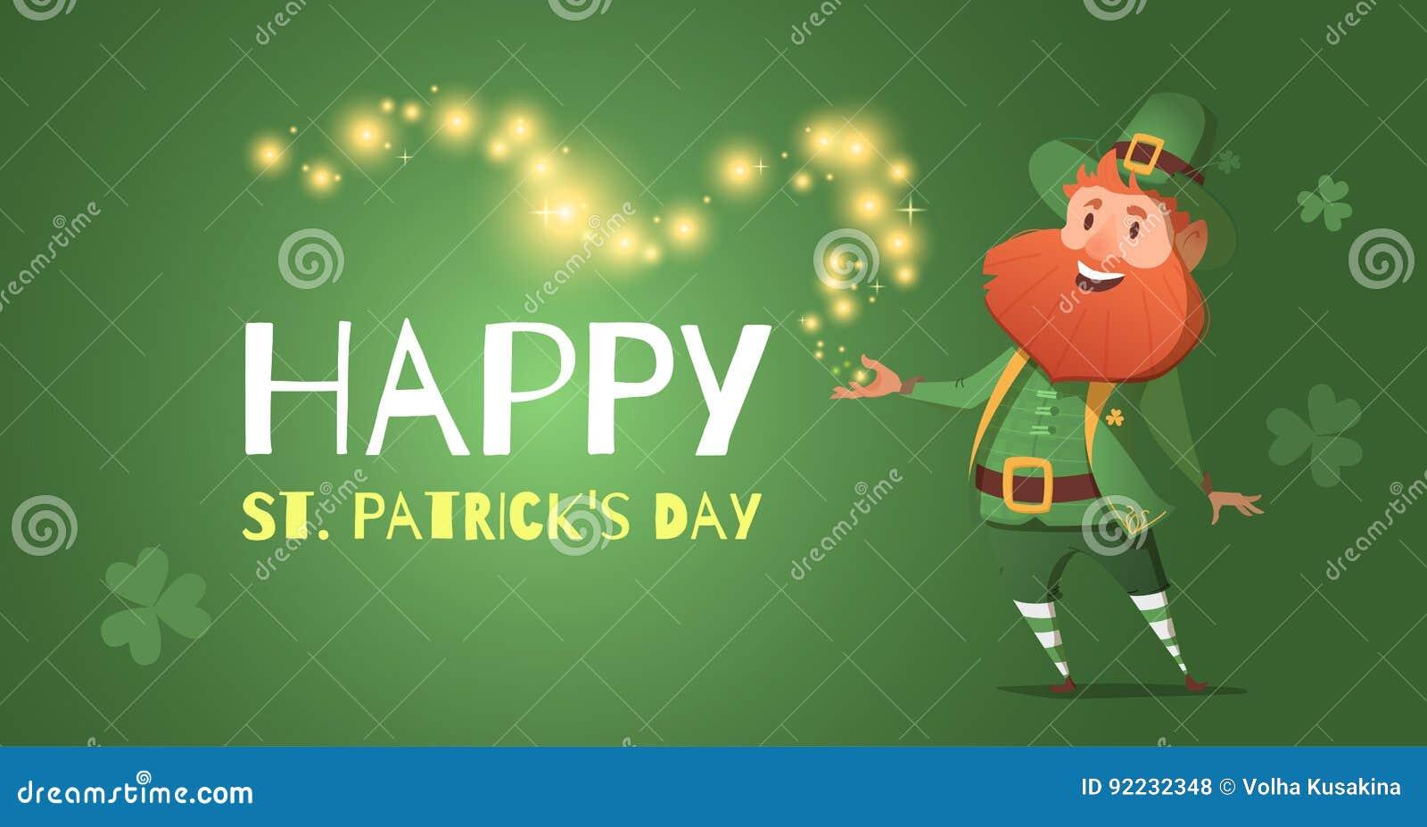 Bandera en honor del día de St Patrick