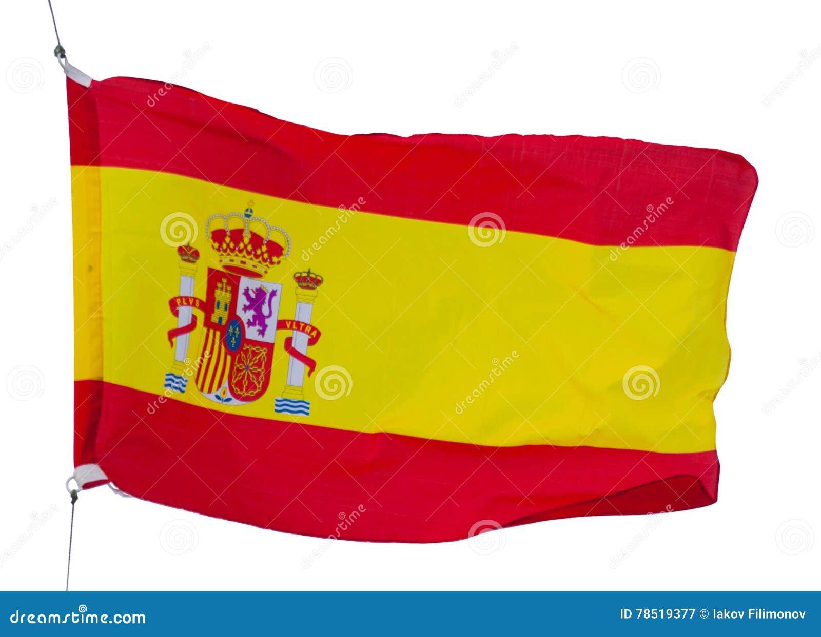 Bandera española aislada