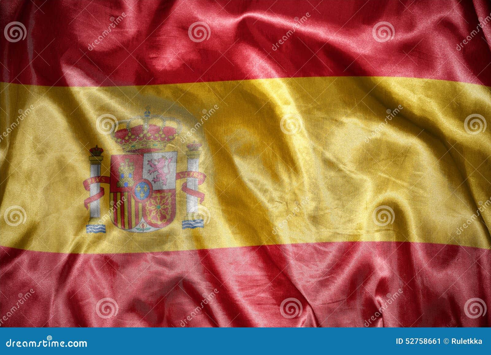 Bandera española brillante