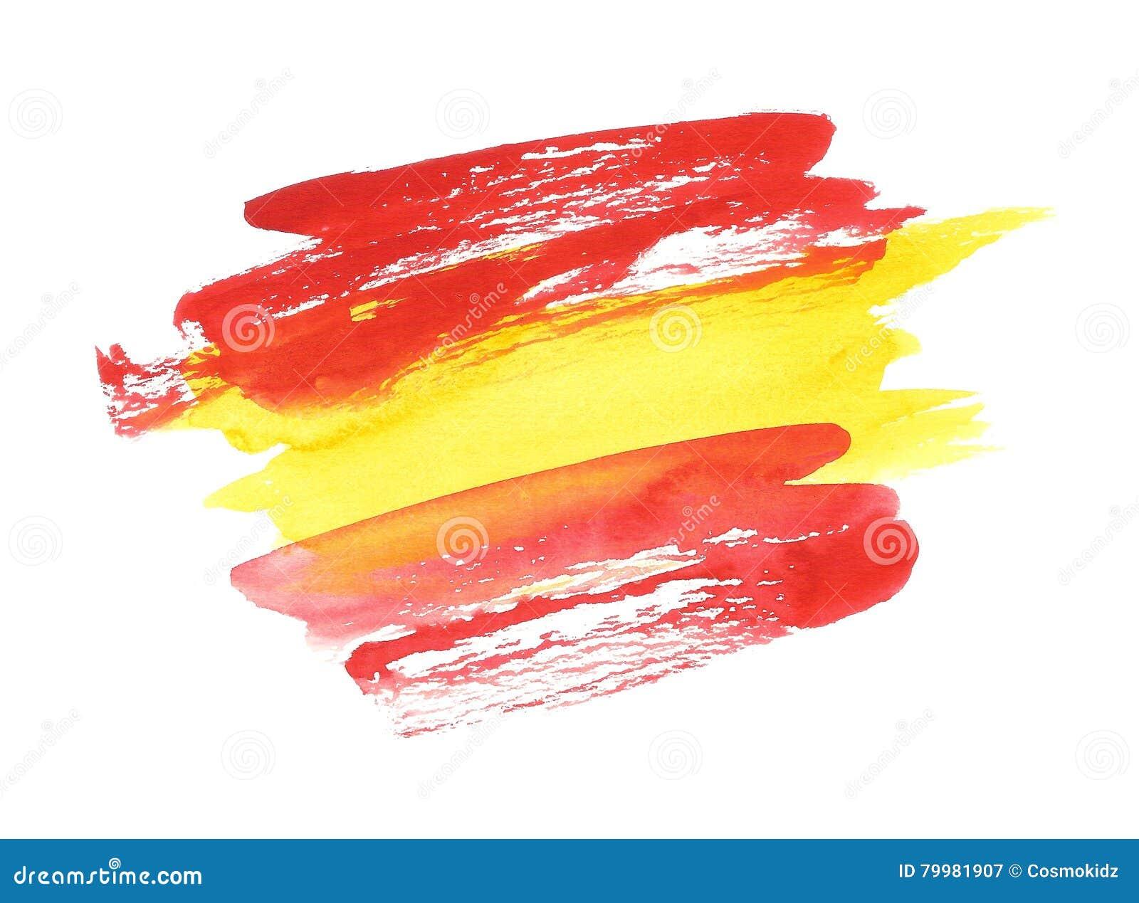Bandera espa ola de la acuarela bandera abstracta de - Dibujo bandera inglesa ...