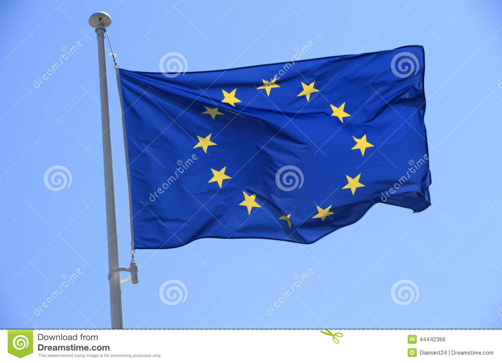 bandera azul y amarilla con estrellas