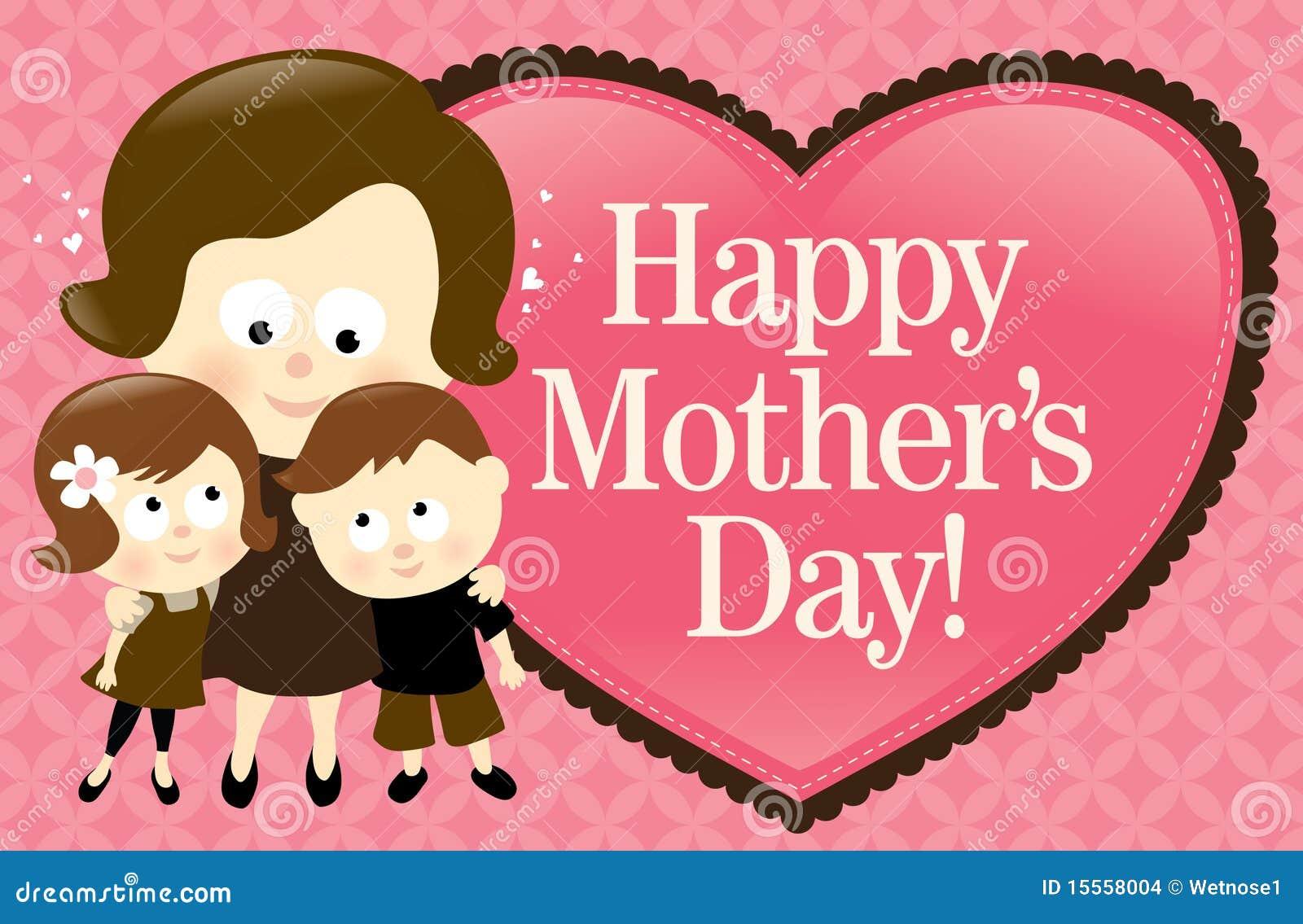 Bandera feliz del día de madre - caucásico