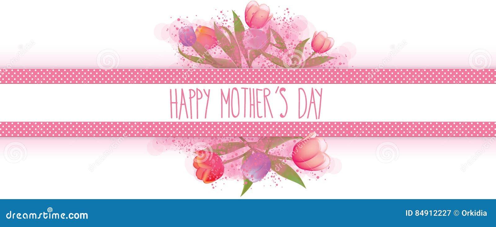 Bandera feliz del día de madres