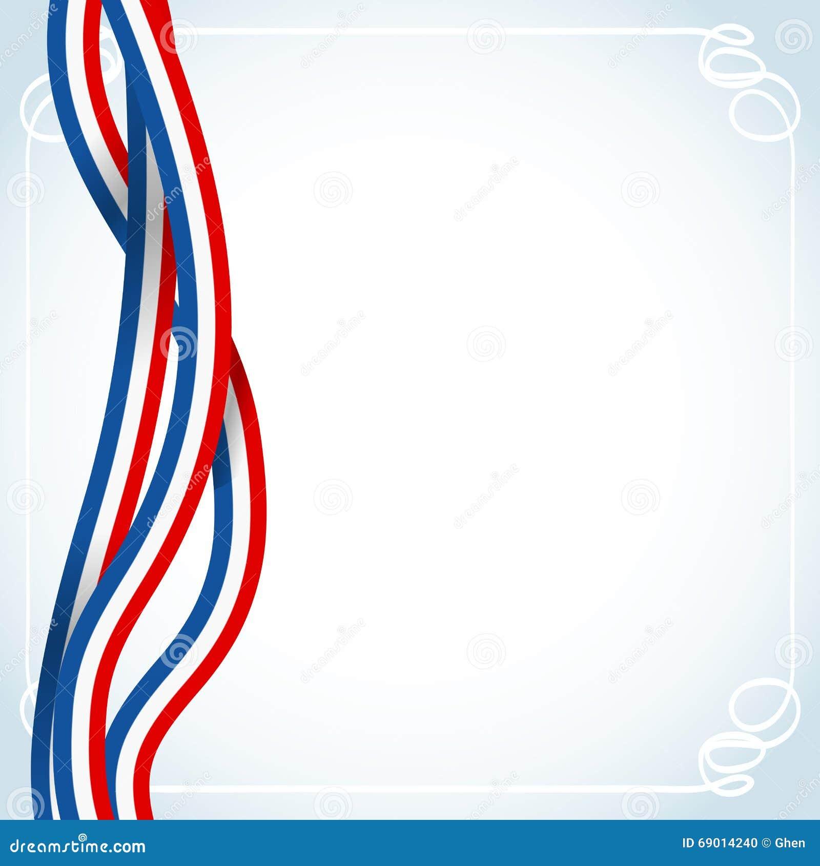 Bandera Francesa De Las Cintas Ilustración del Vector - Ilustración ...