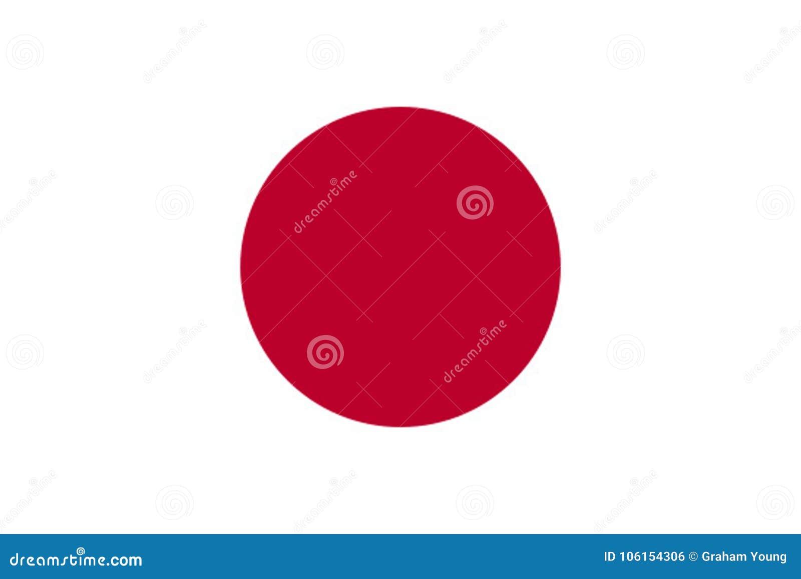 Bandera japonesa exacta