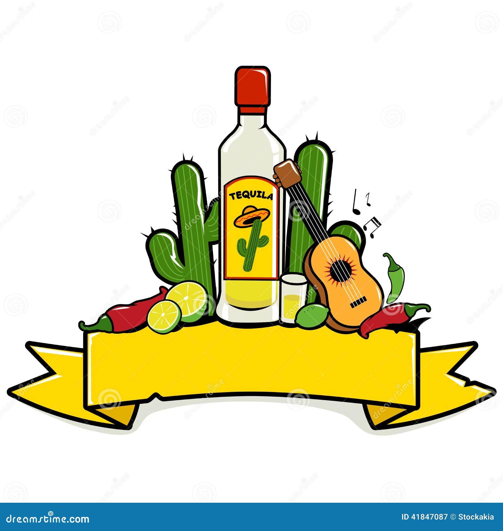 Bandera Mexicana Del Tequila Ilustración del Vector - Ilustración de ...