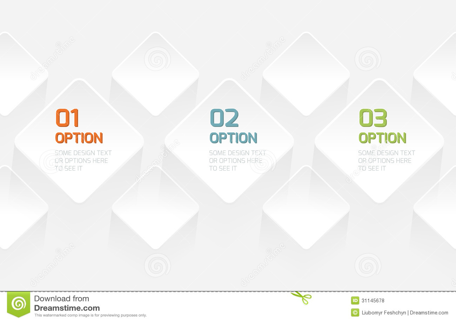 Bandera moderna de las opciones del estilo de la papiroflexia