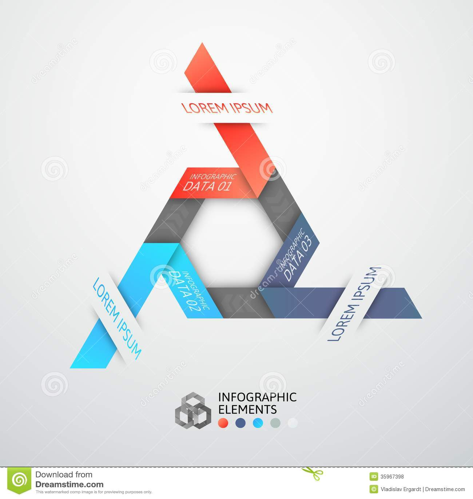 Bandera moderna de las opciones del estilo de la papiroflexia del paso del negocio