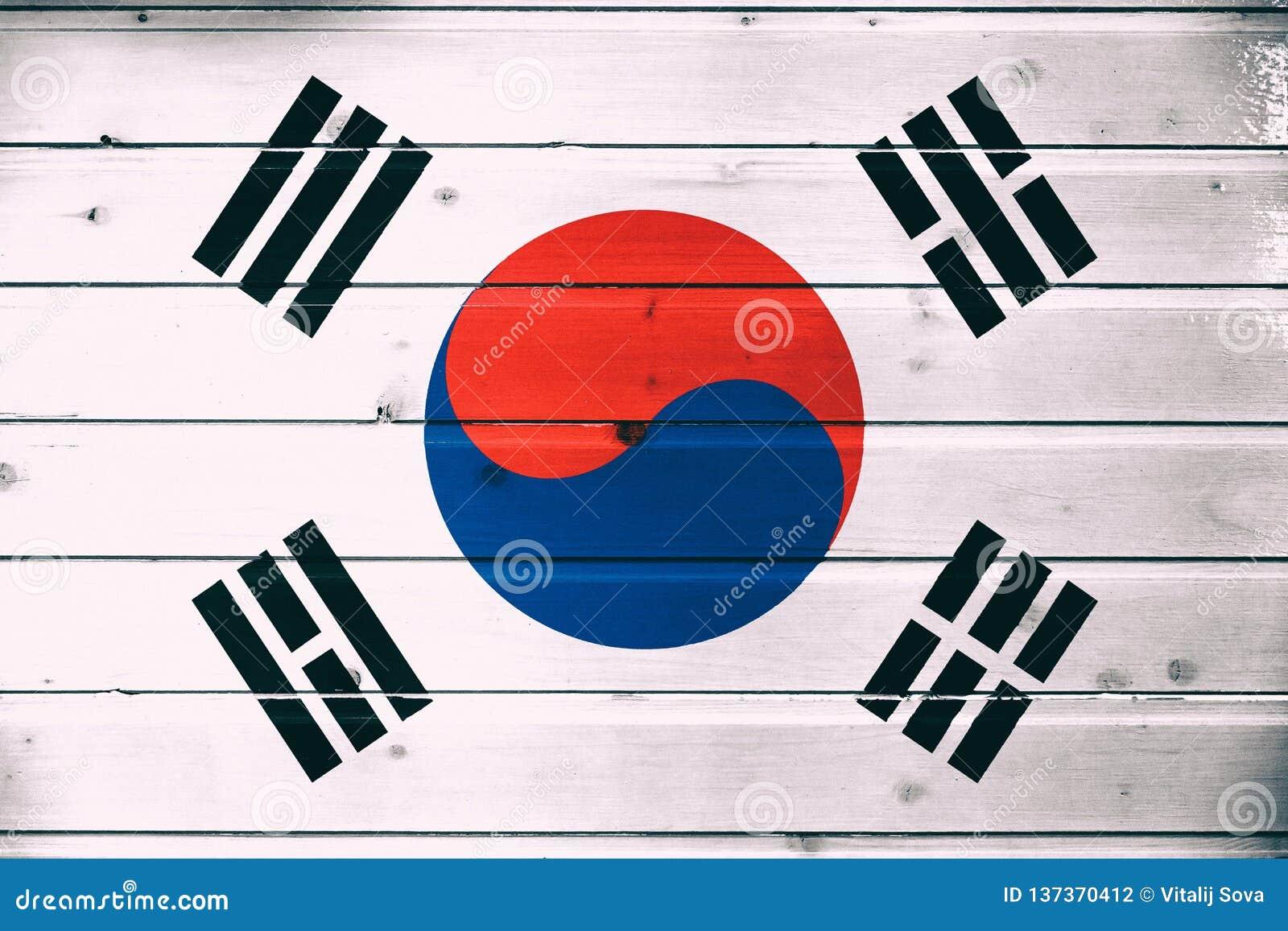 Bandera nacional de la Corea del Sur