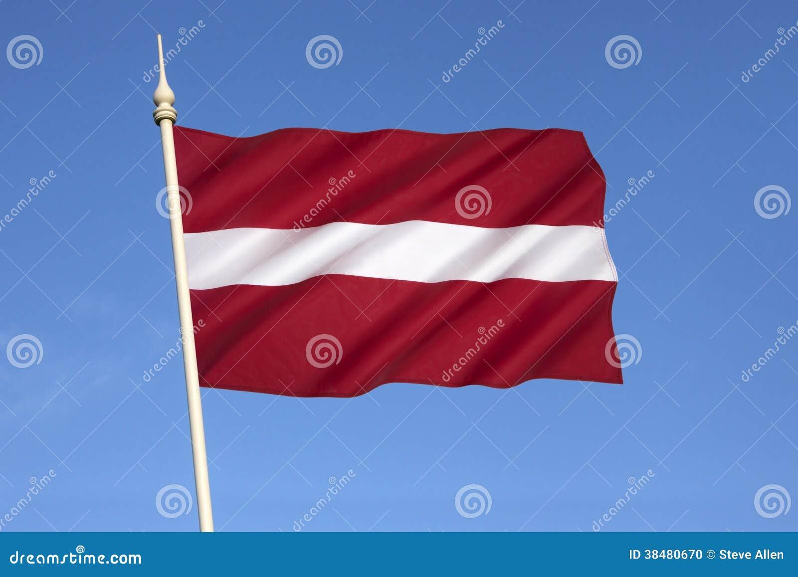 Bandera nacional de Letonia - Estados bálticos