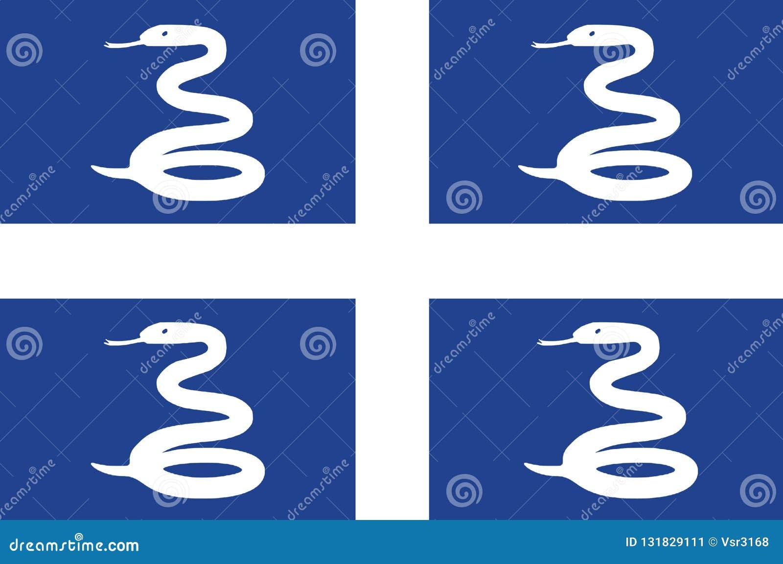 Bandera nacional de Martinica Fondo con la bandera de Martinica