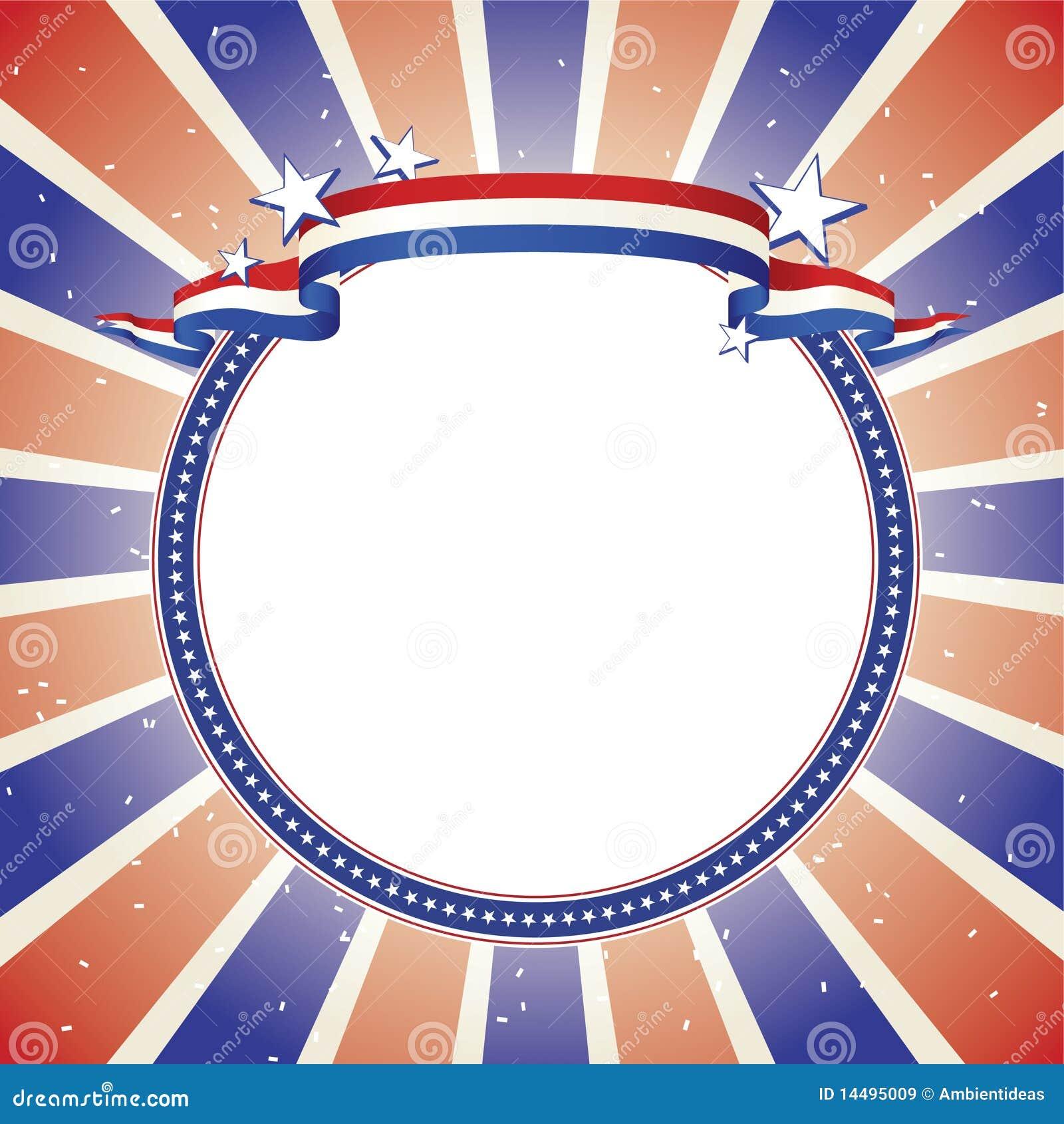 Bandera patriótica en círculo alineado estrella decorativa