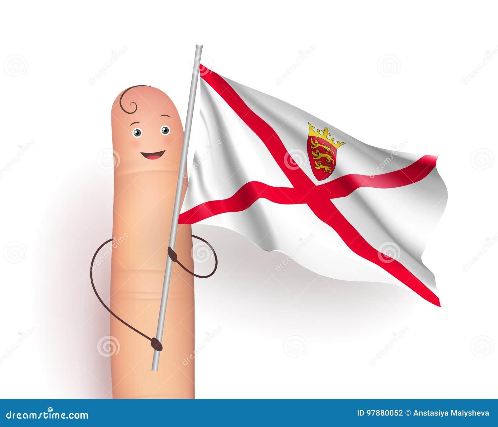 Bandera que agita del jersey