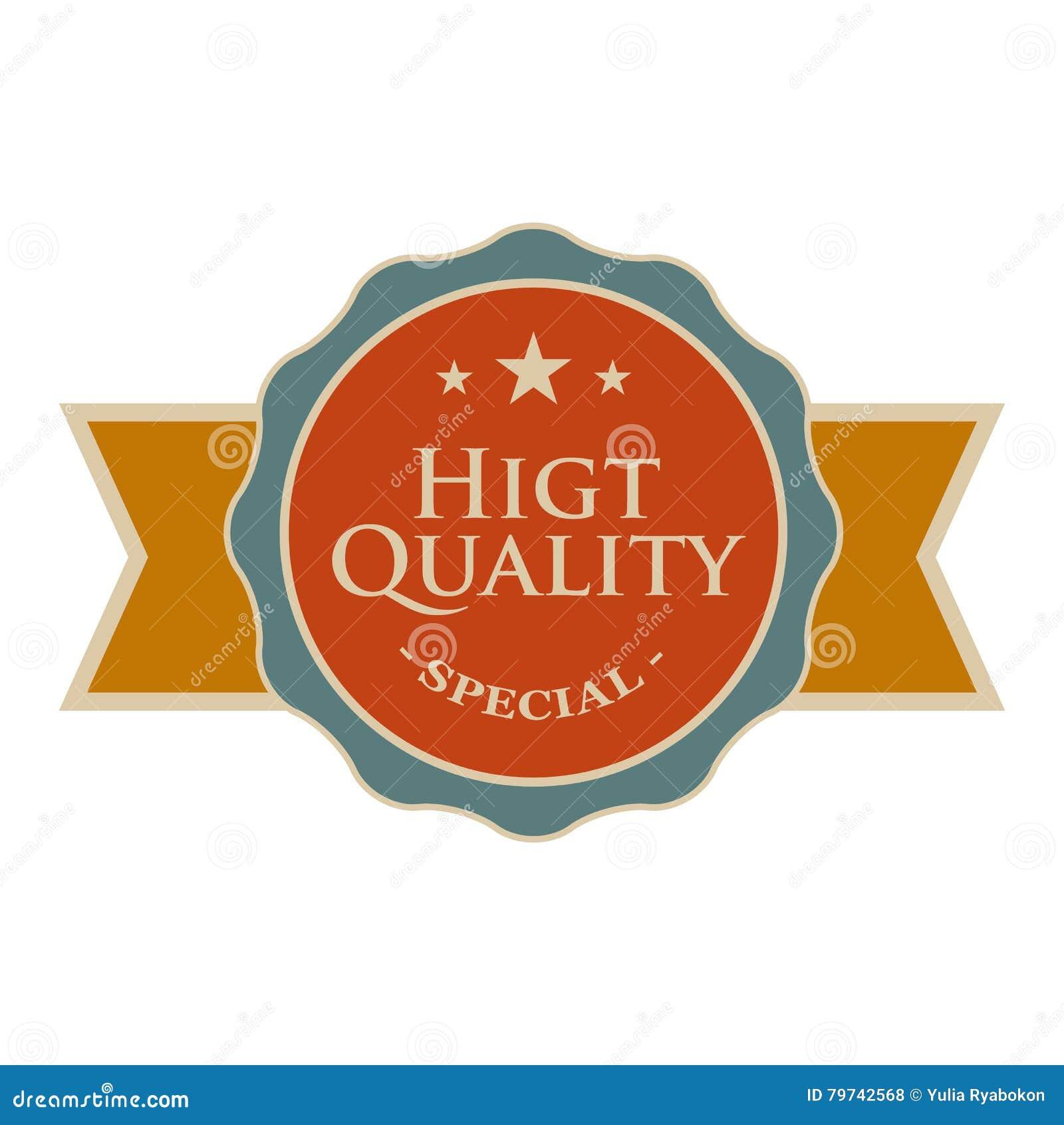 Bandera redonda de alta calidad del vintage