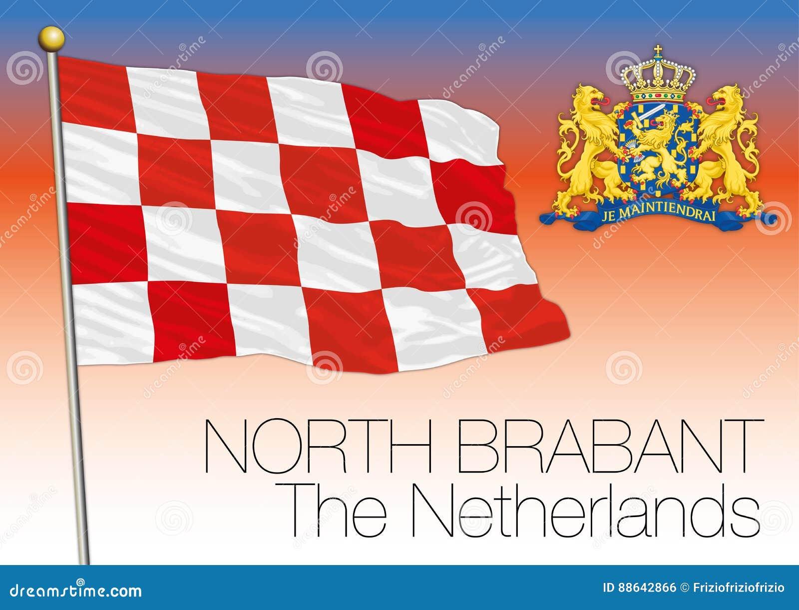 Bandera regional de Brabante Septentrional, Países Bajos, unión europea