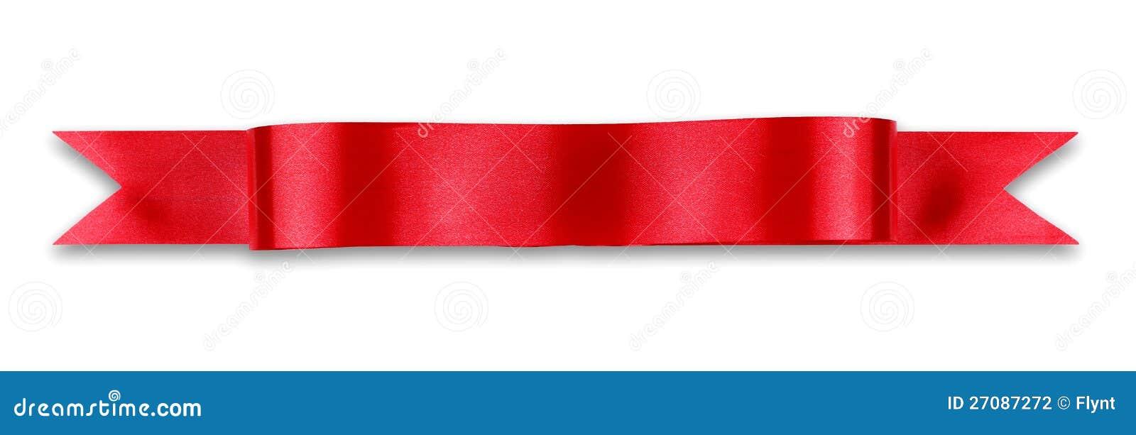 Bandera roja de la cinta