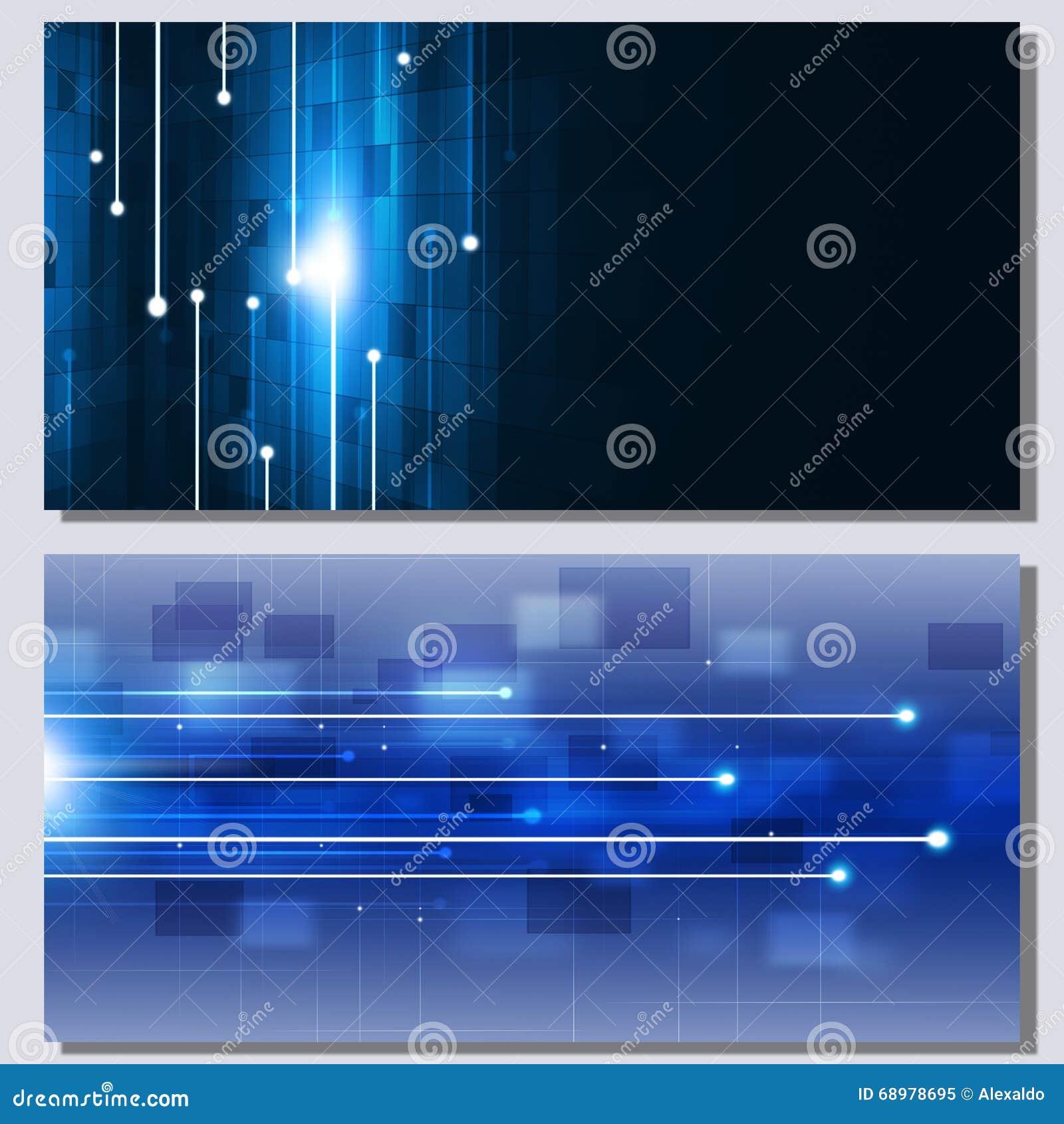 Banderas abstractas de la comunicación de la tecnología