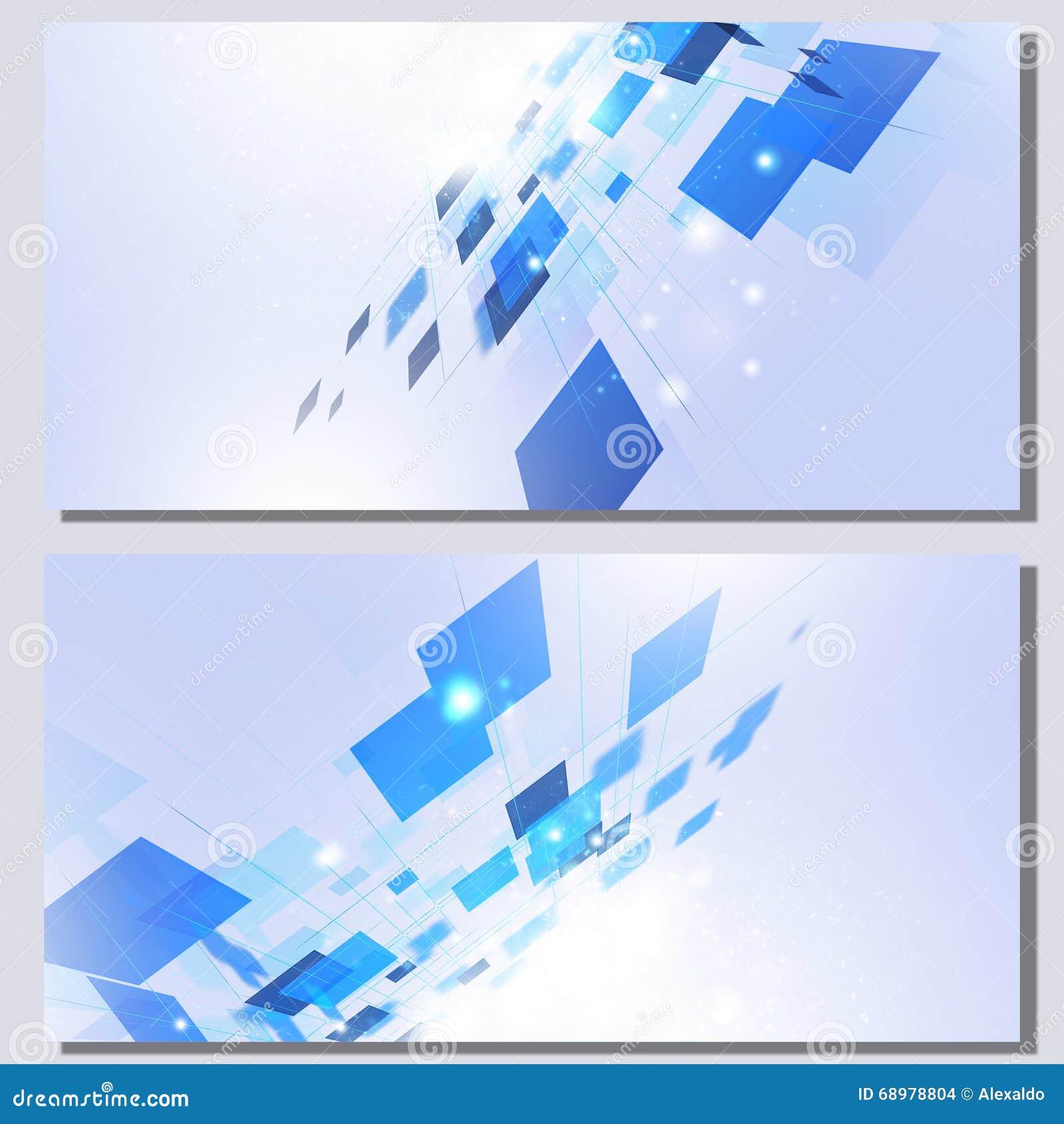 Banderas abstractas de la tecnología