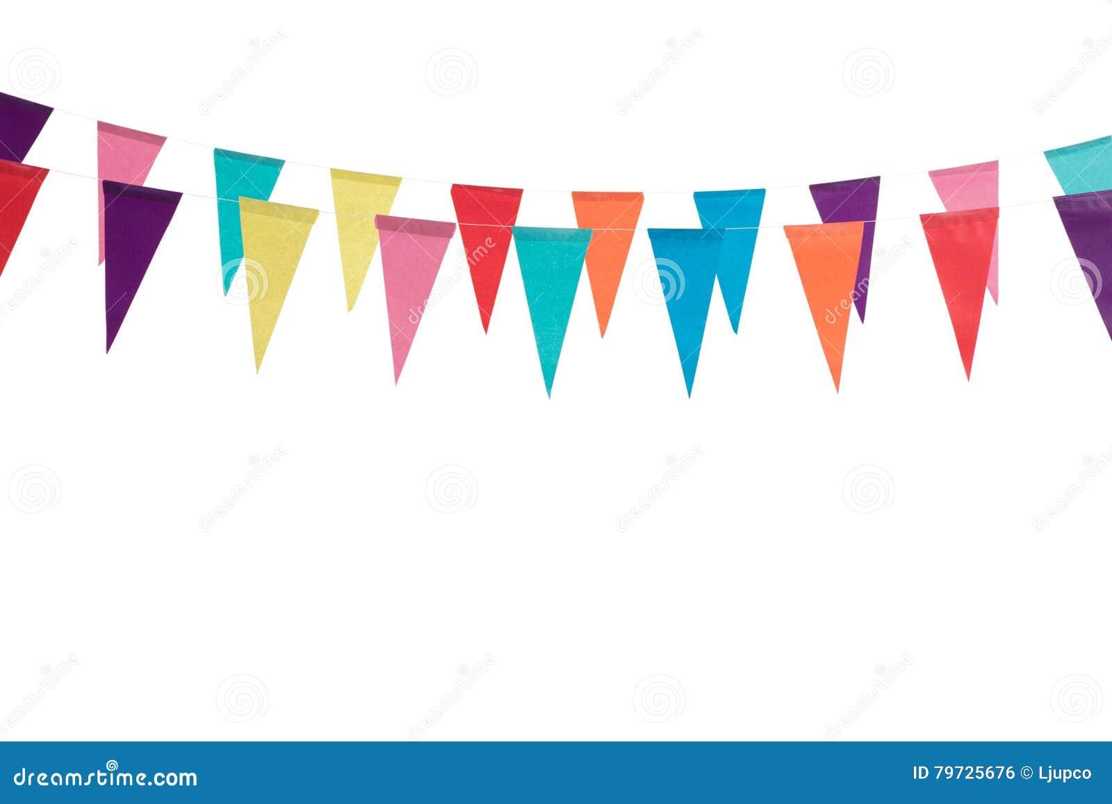 Banderas de la decoración del cumpleaños