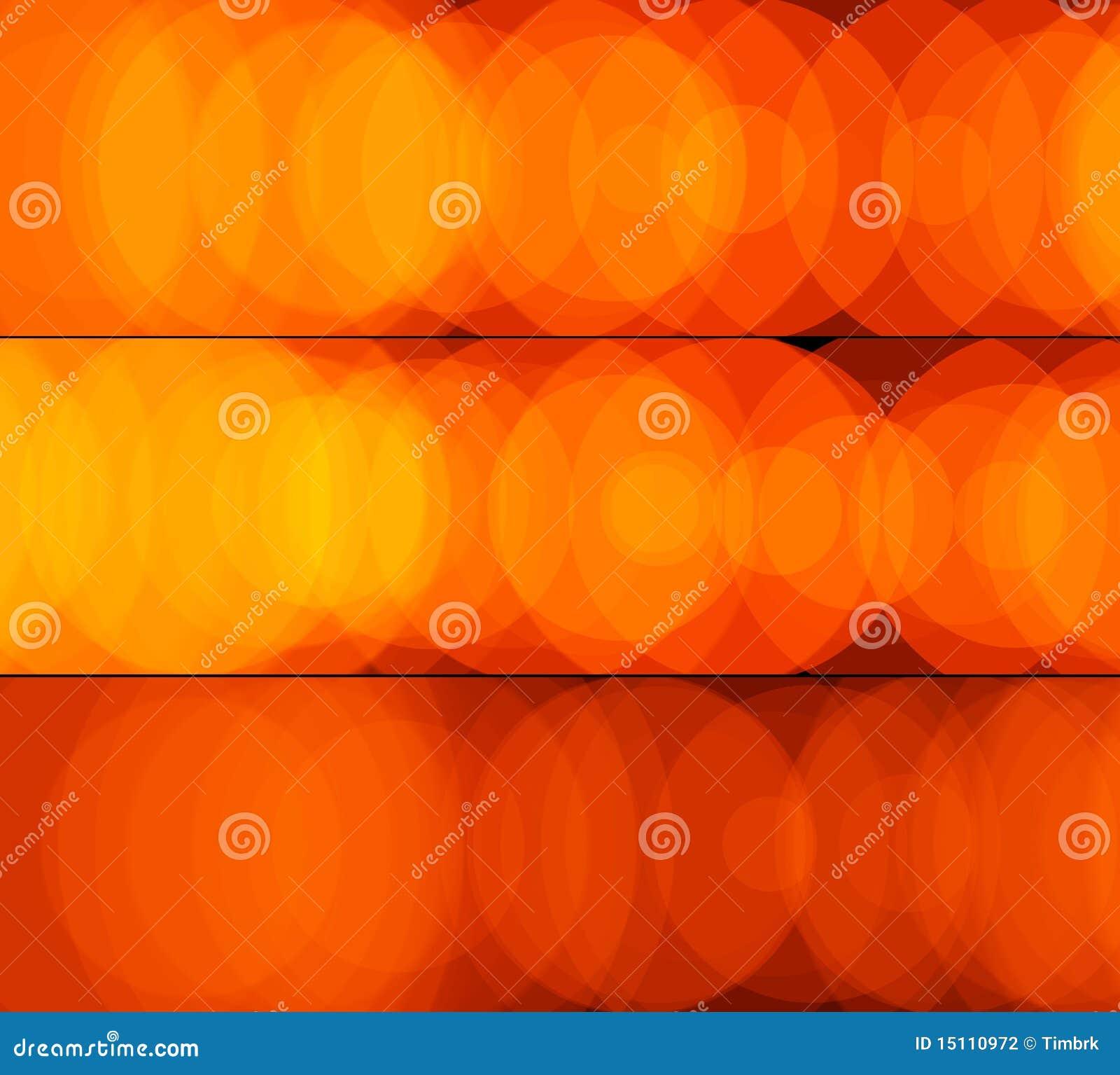 Banderas de la luz anaranjada