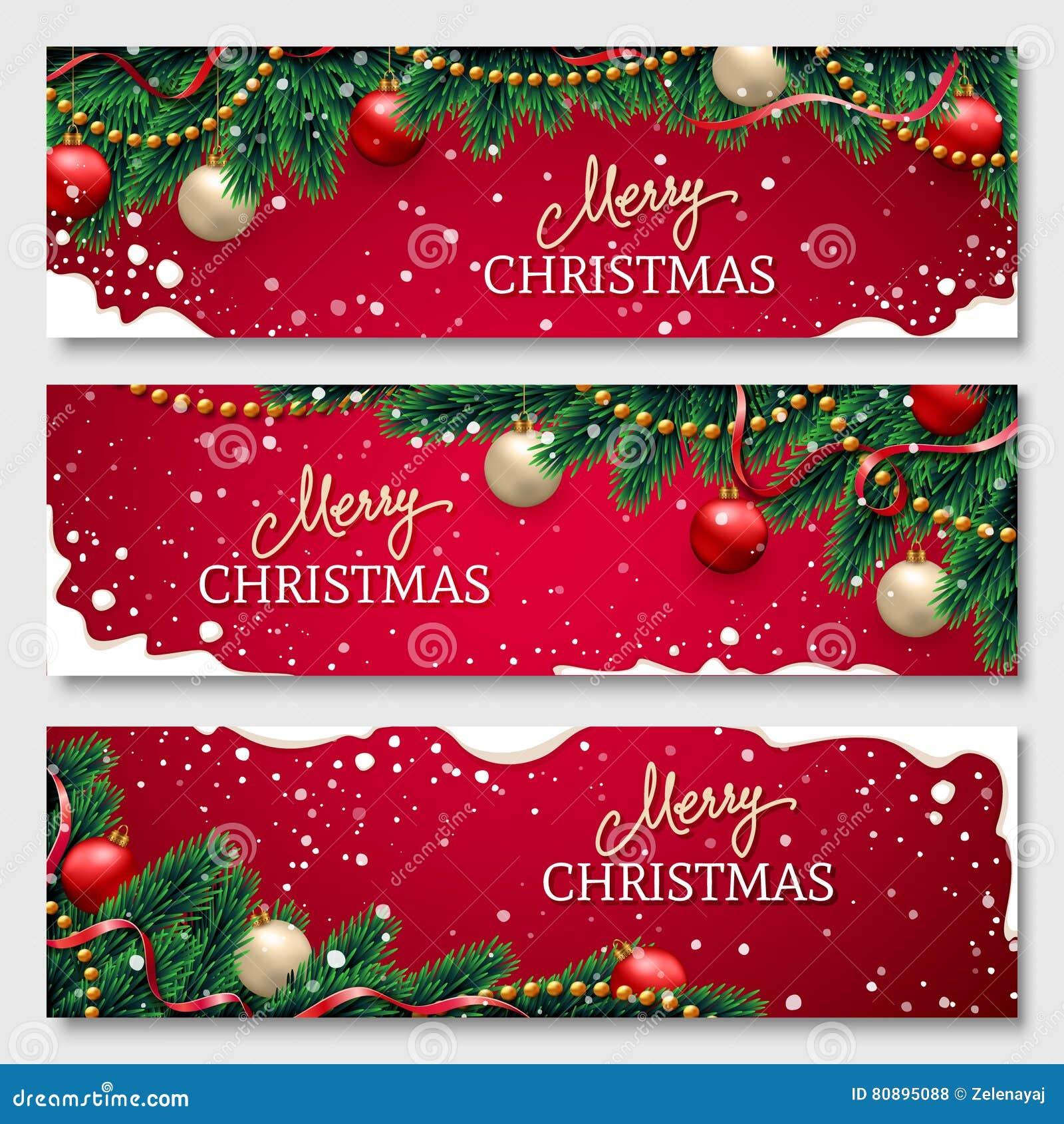 Banderas de la Navidad fijadas
