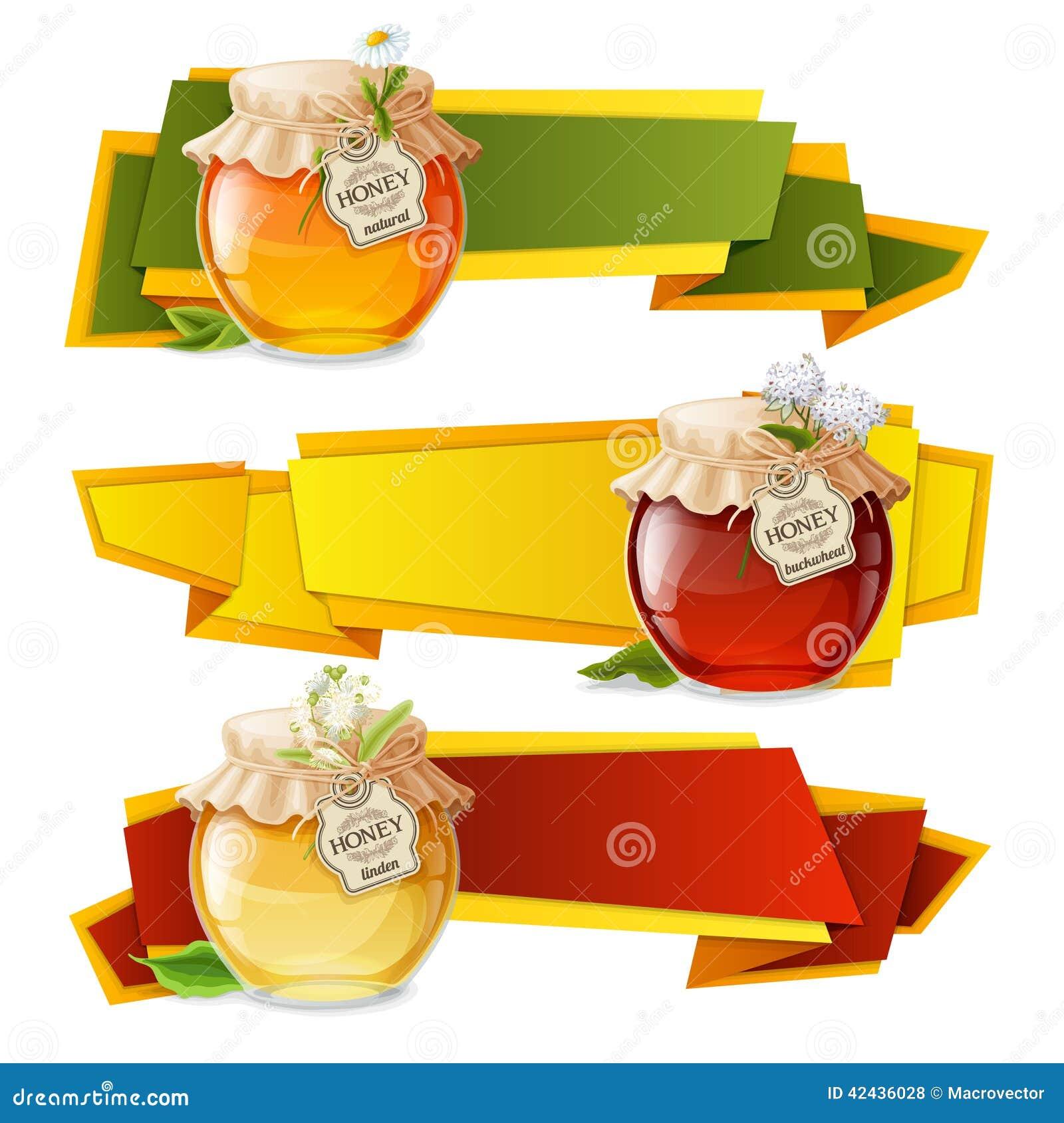 Banderas de la papiroflexia de la miel