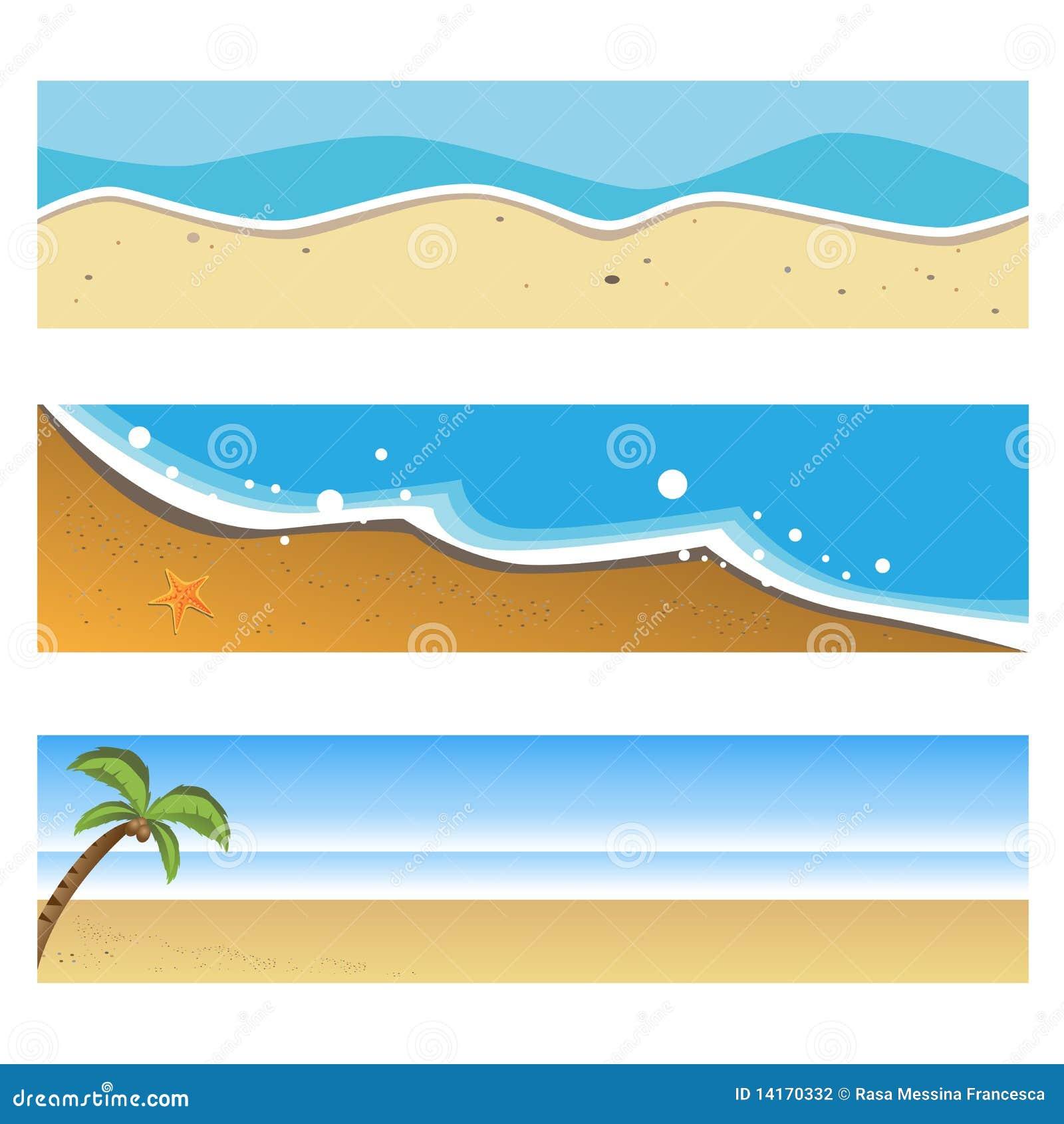 Banderas de la playa del verano