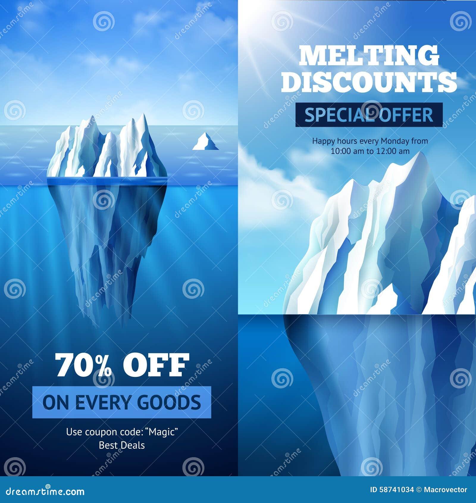 Banderas de la venta del iceberg