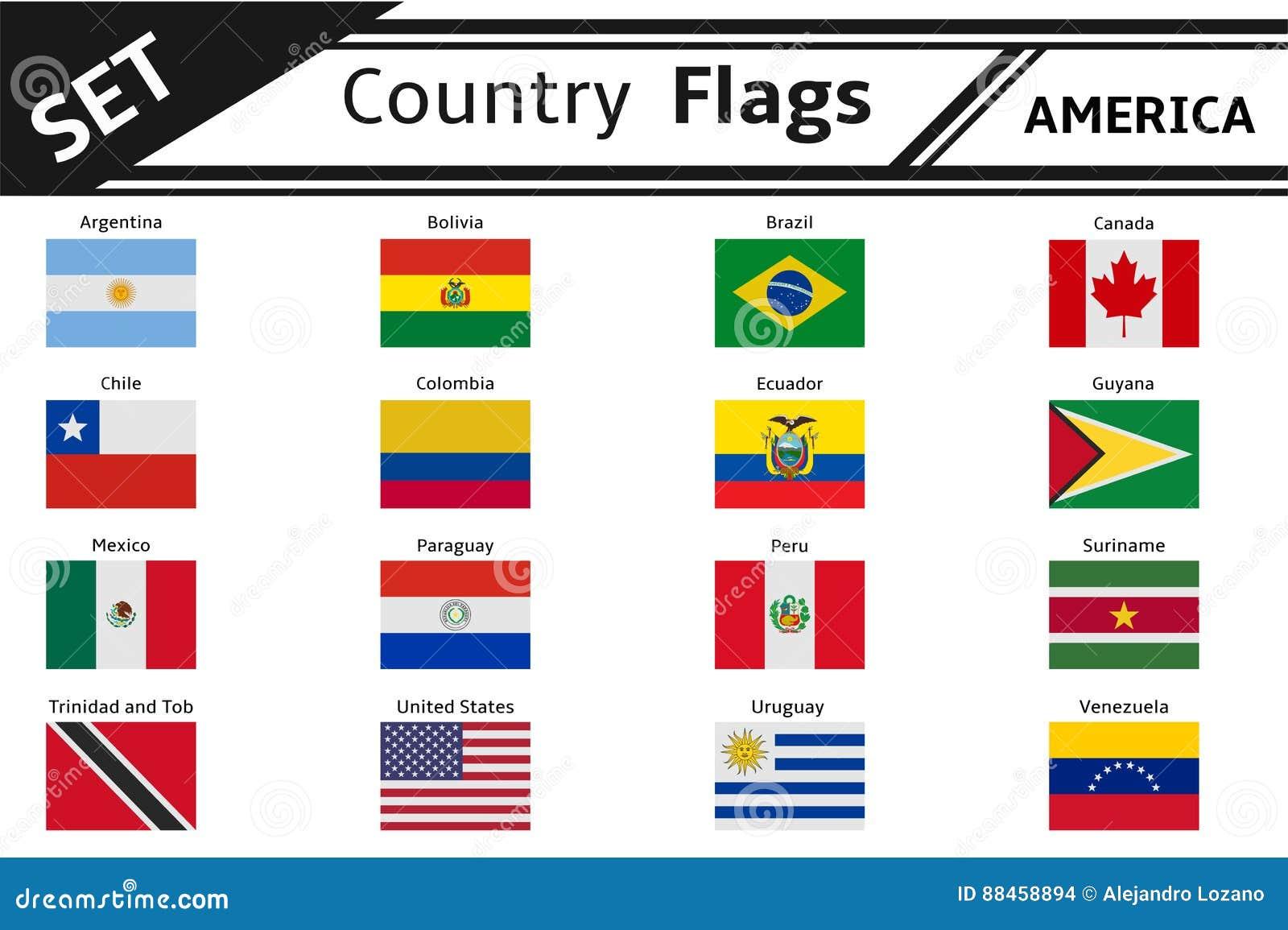 banderas de los paises de america