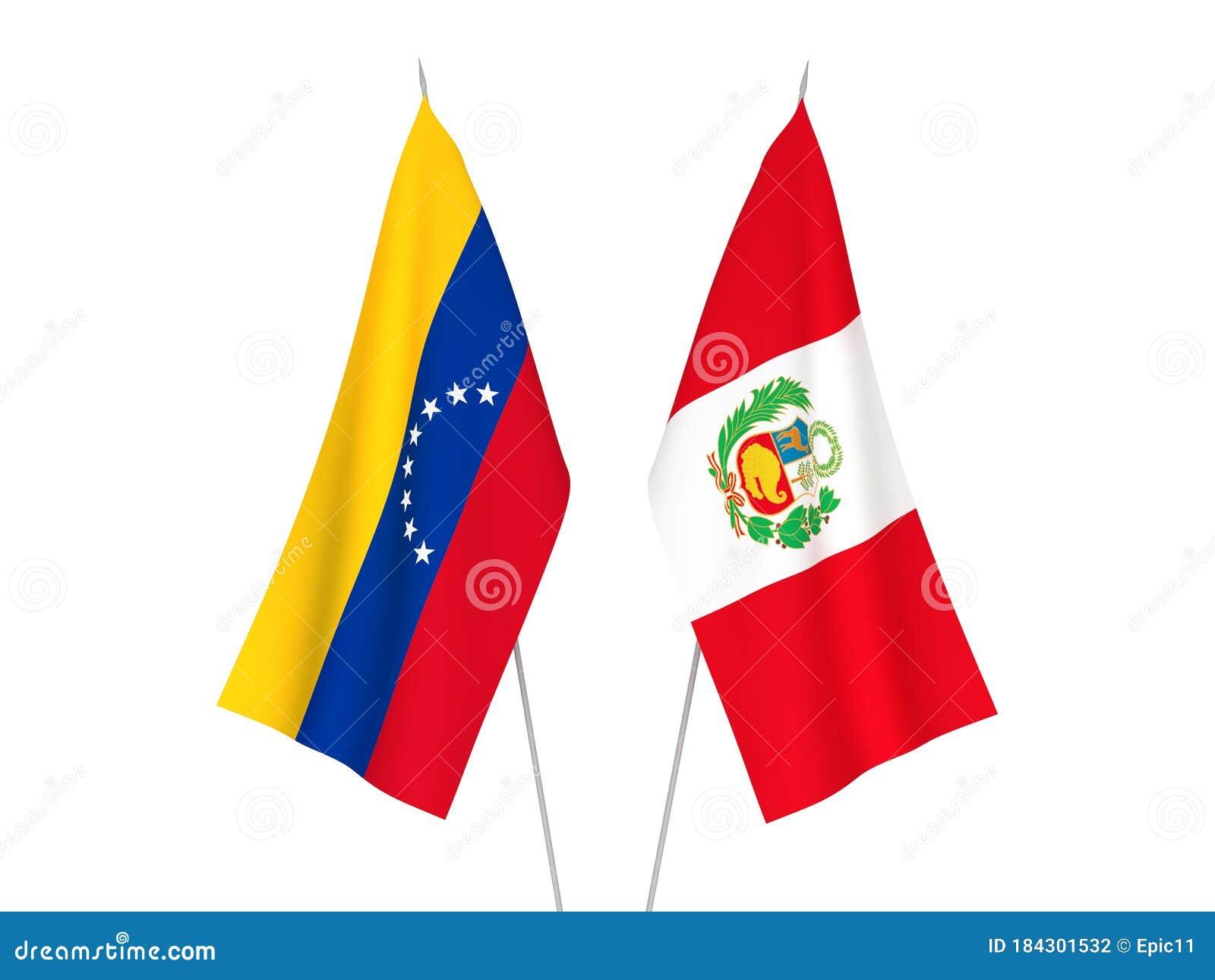 Banderas De Perú Y Venezuela Stock de ilustración - Ilustración de seda,  naturalice: 184301532
