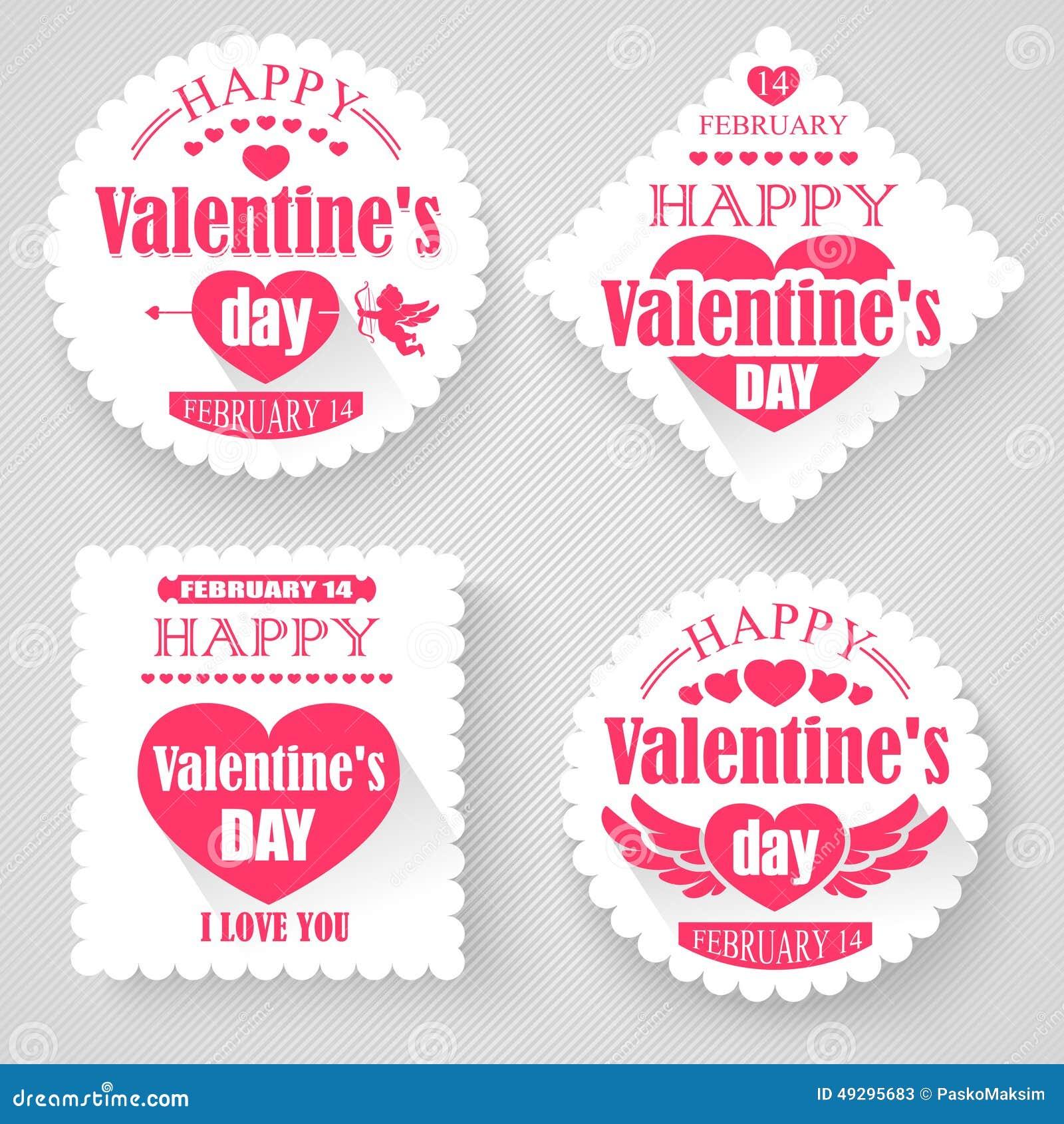 Banderas del día de tarjetas del día de San Valentín